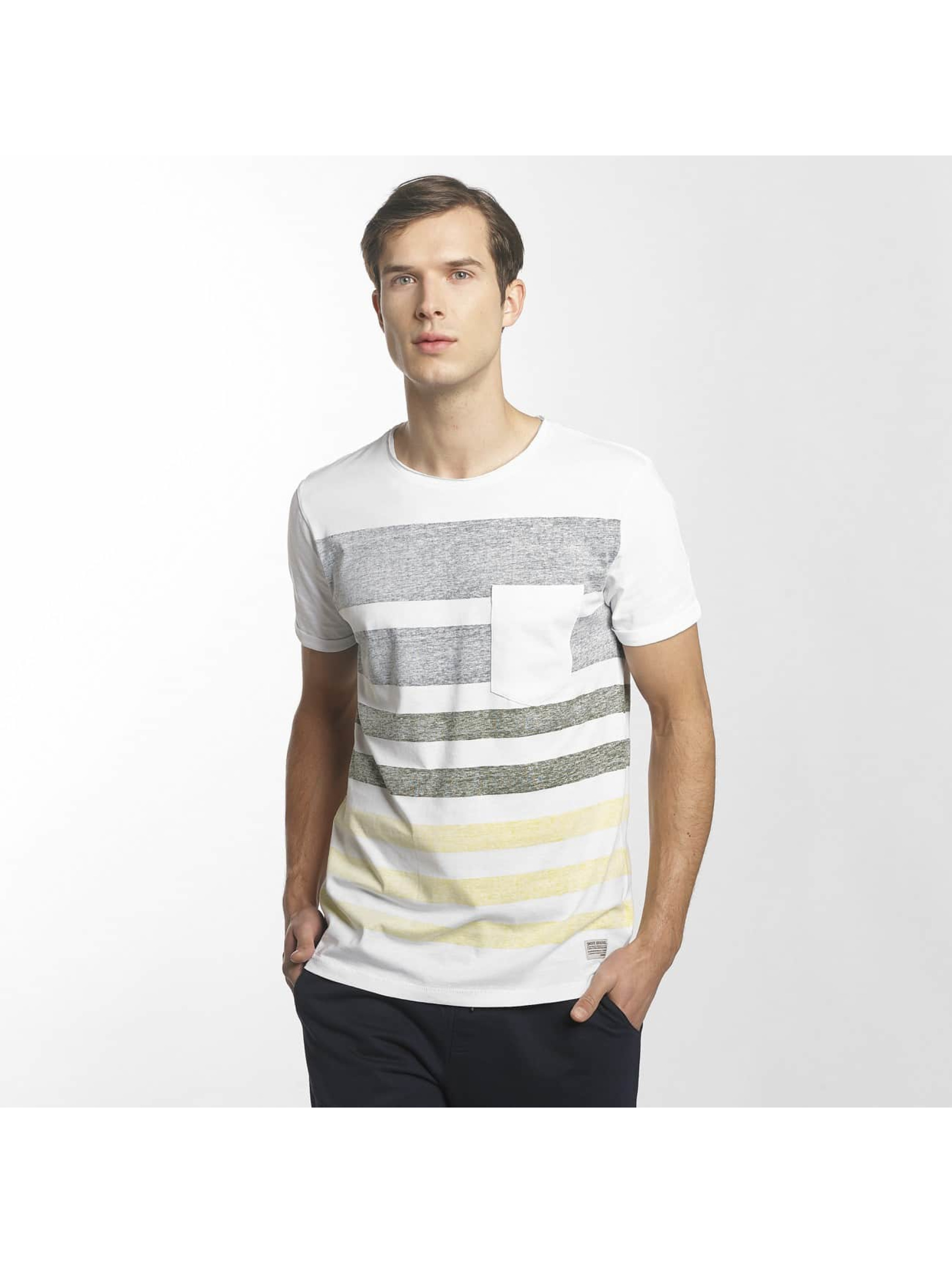 SHINE Original T-paidat Faded Stripe valkoinen