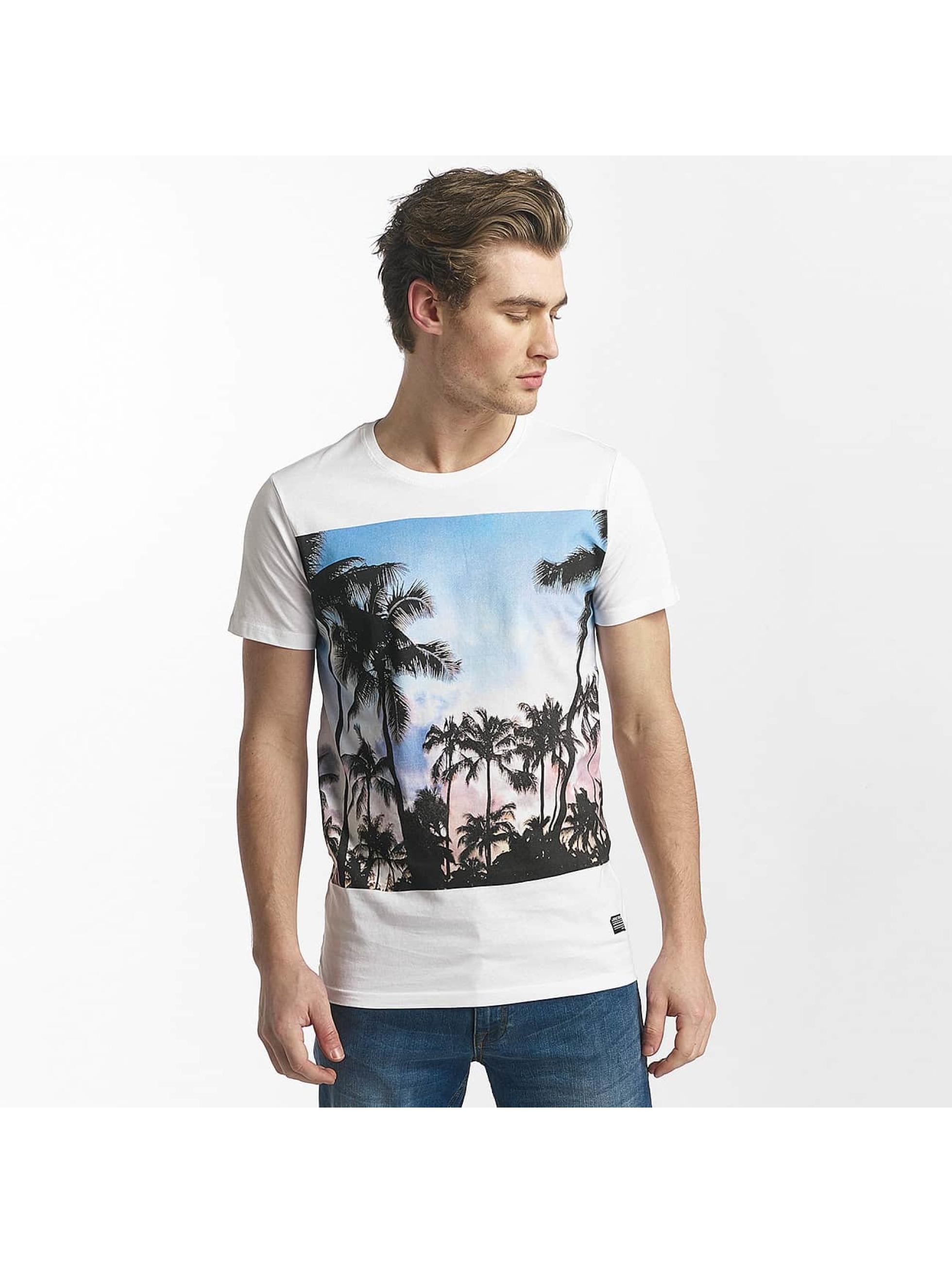 SHINE Original T-paidat Lupe Palm Print valkoinen