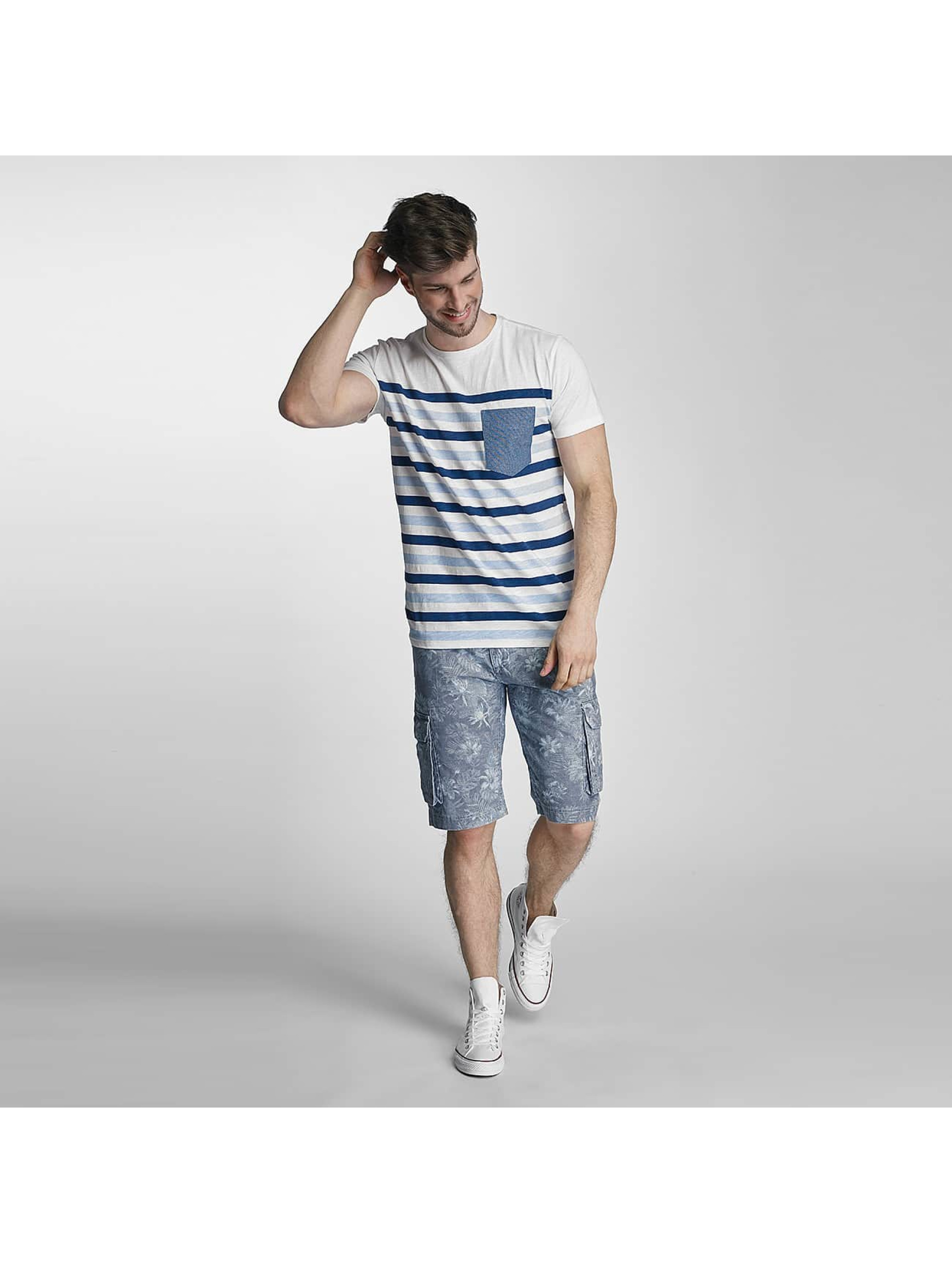 SHINE Original T-Shirt Striped blau