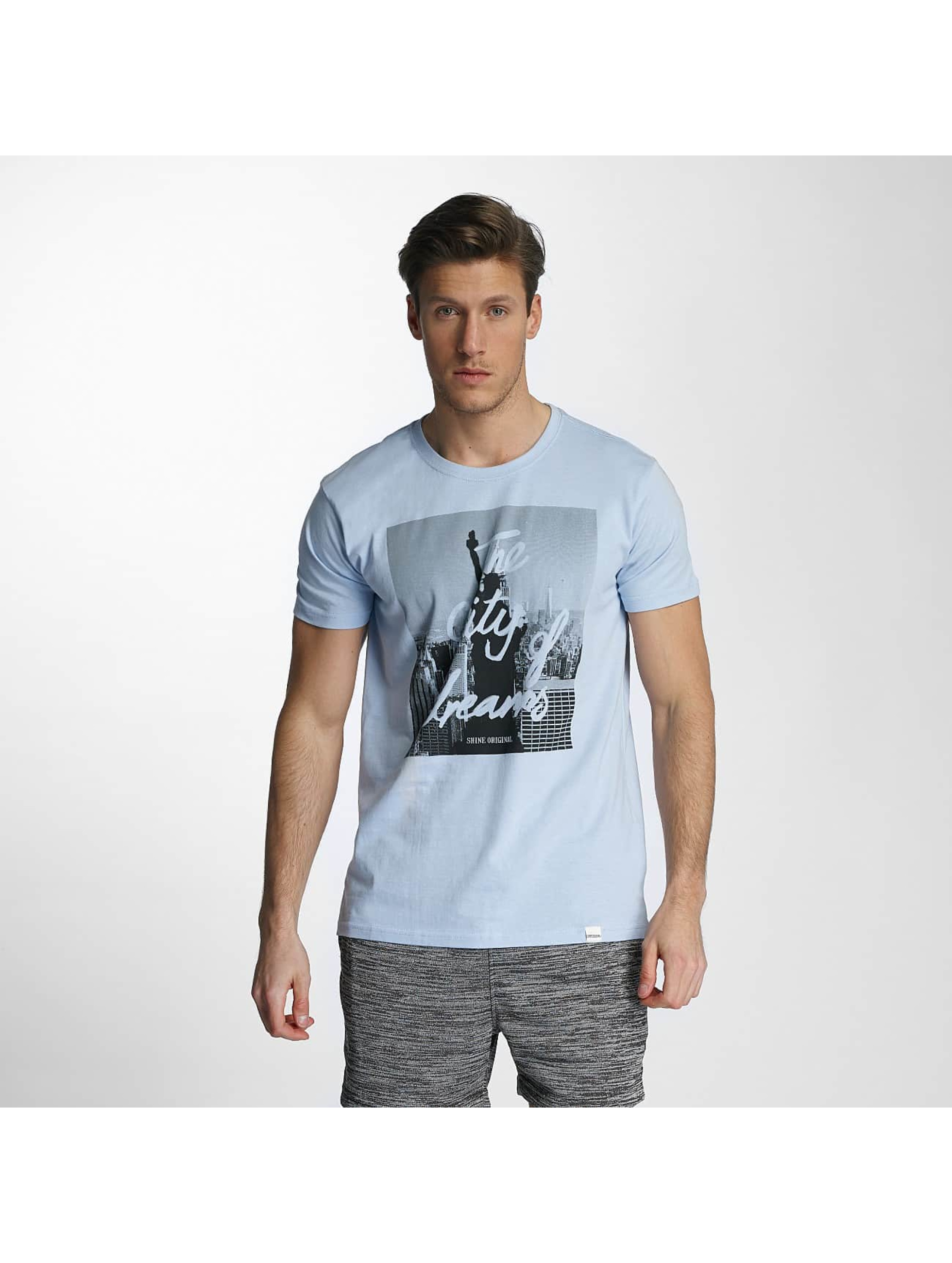 SHINE Original t-shirt City Lane blauw