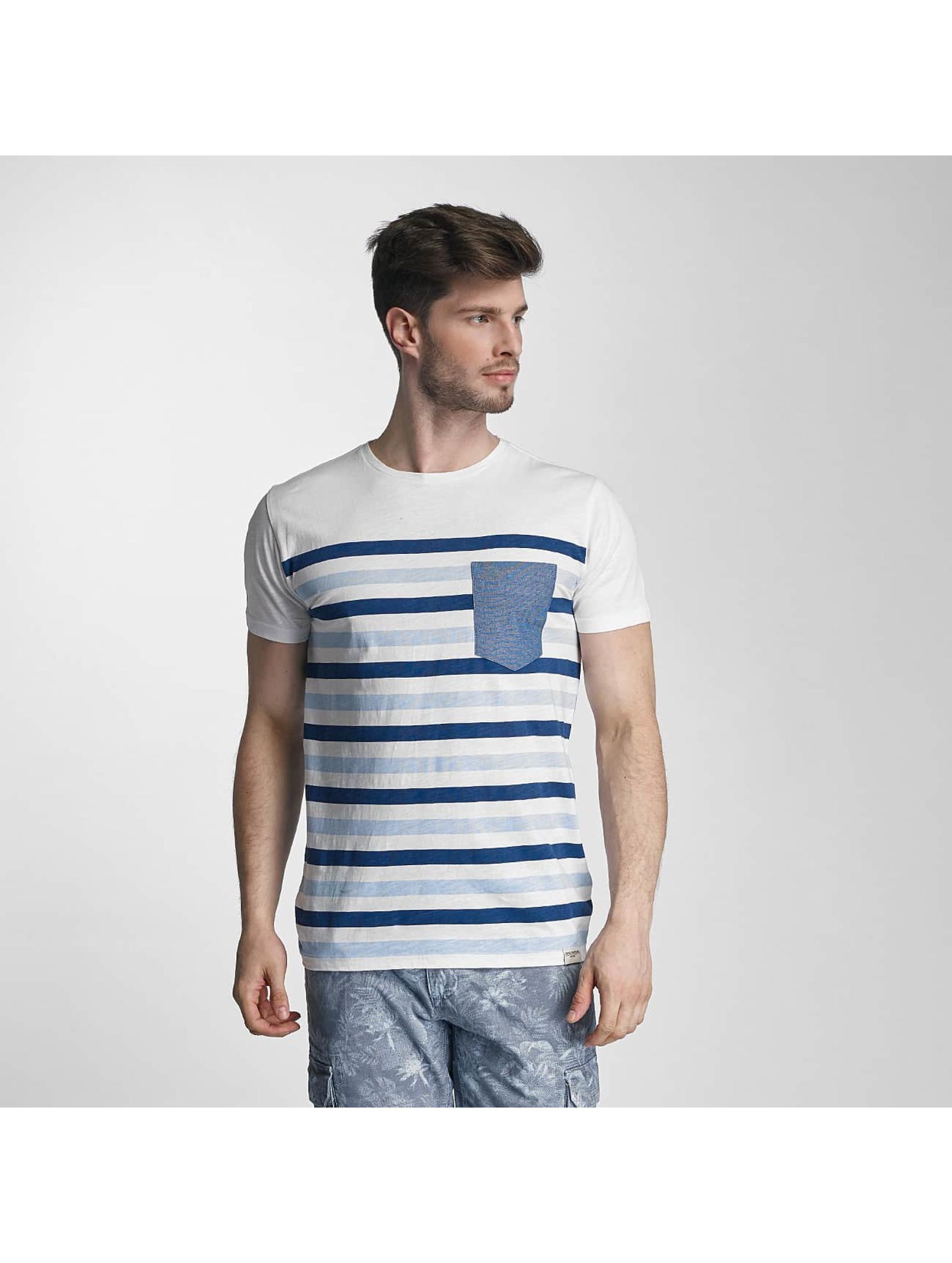 SHINE Original t-shirt Striped blauw