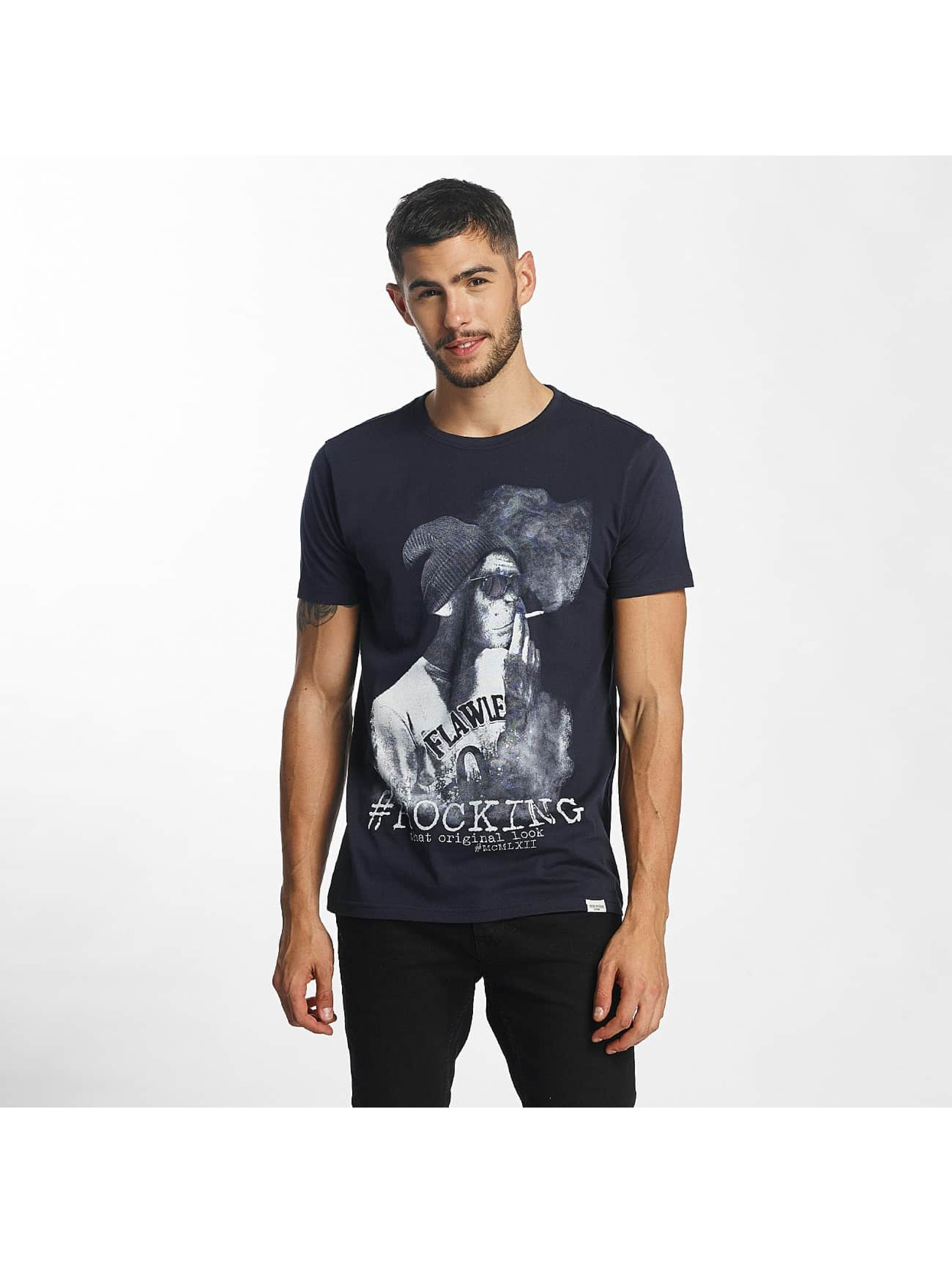 SHINE Original t-shirt Animal Print blauw