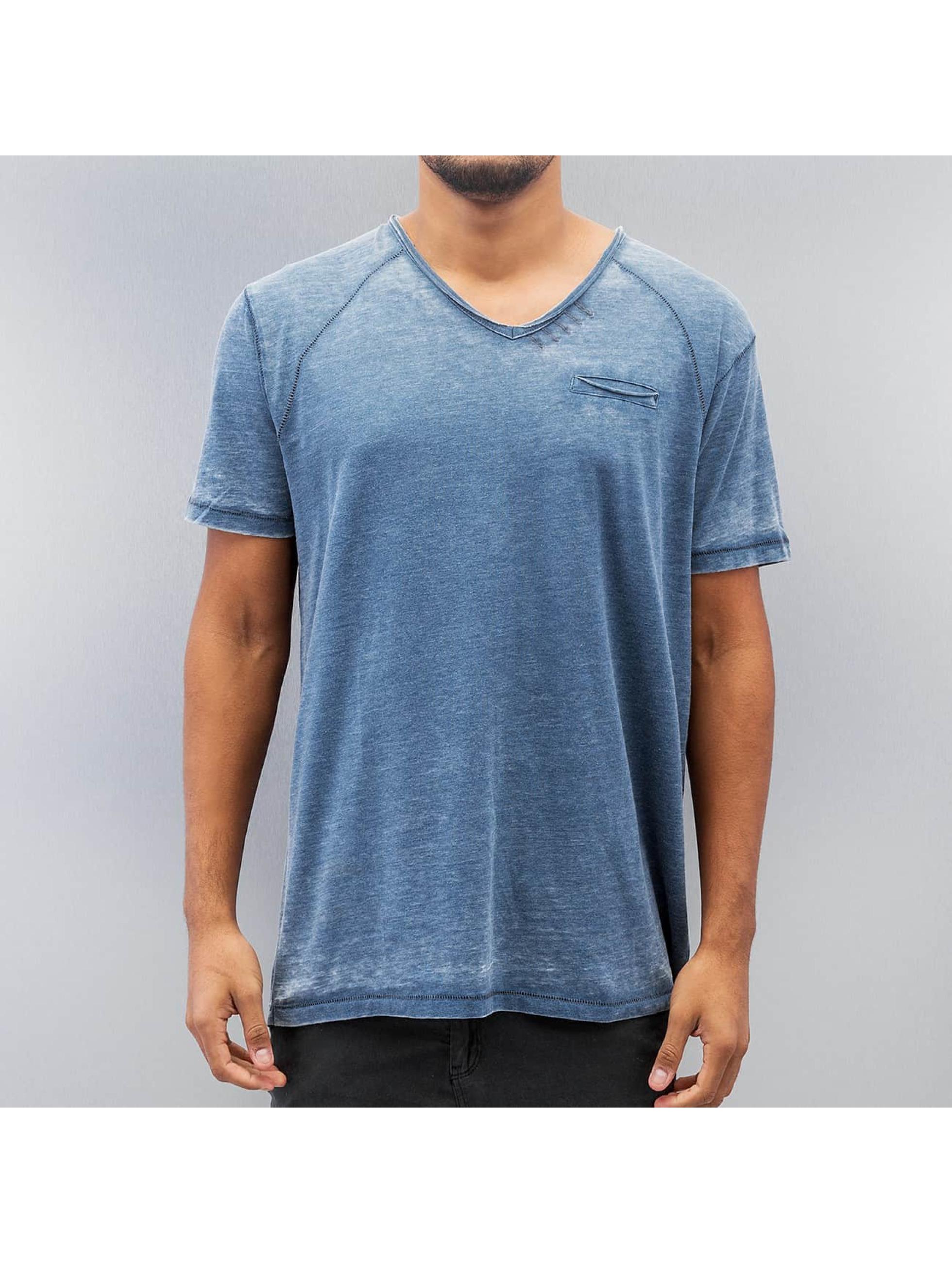 SHINE Original T-Shirt Burn Out Effect bleu