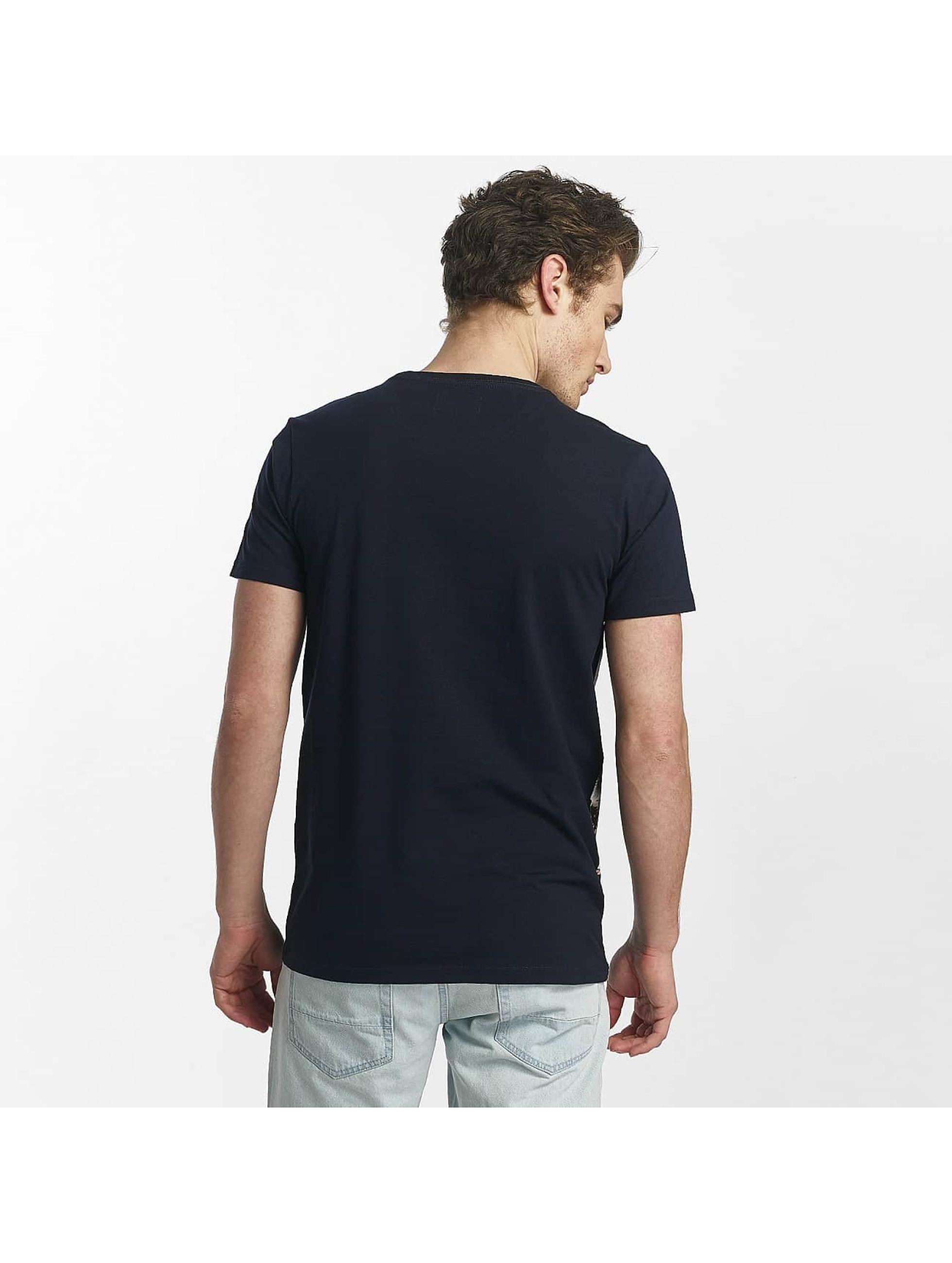 SHINE Original T-Shirt Lupe Palm Print blue