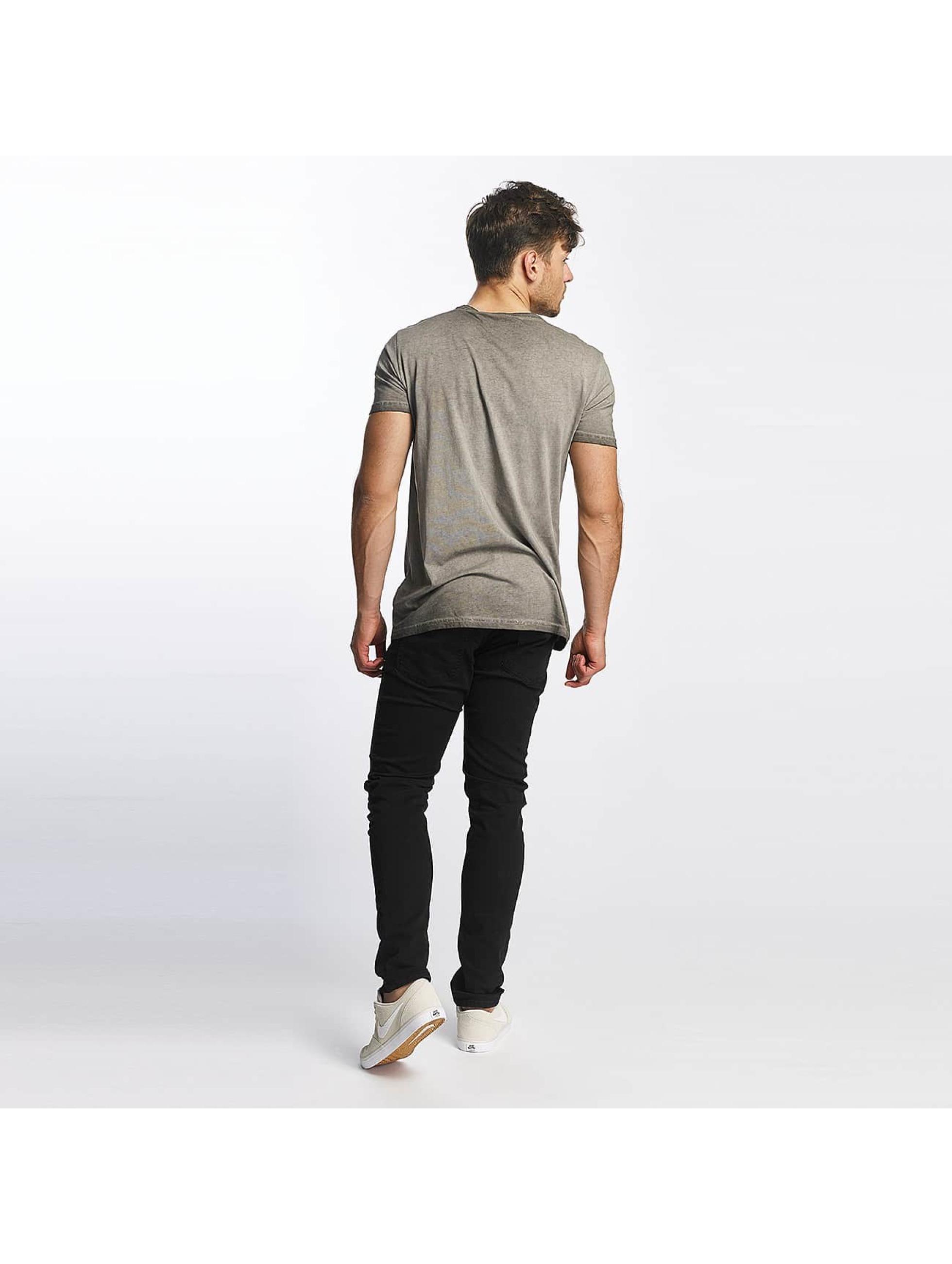 SHINE Original T-Shirt Oil Washed Printed grau