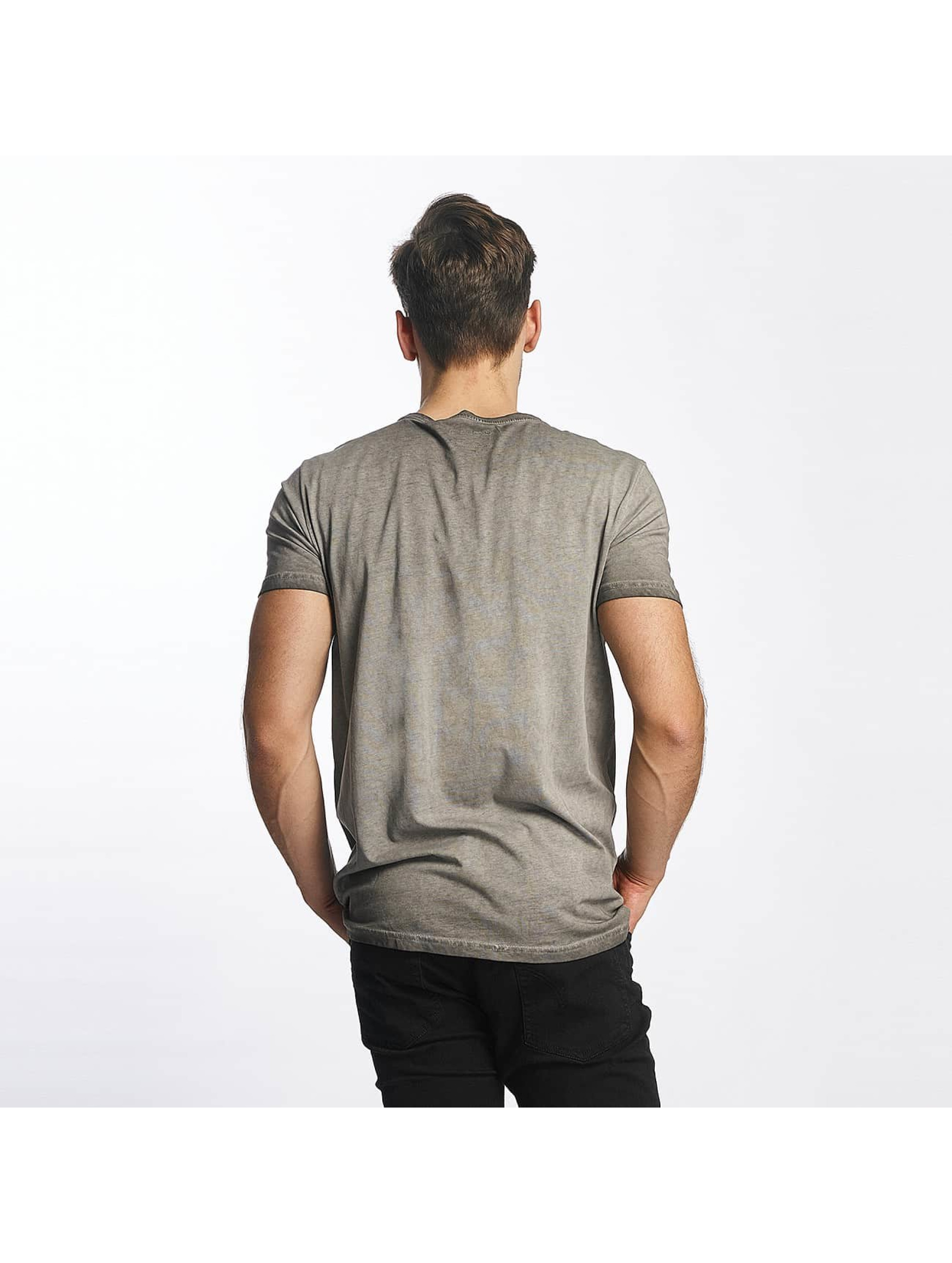 SHINE Original T-Shirt Oil Washed Printed grey