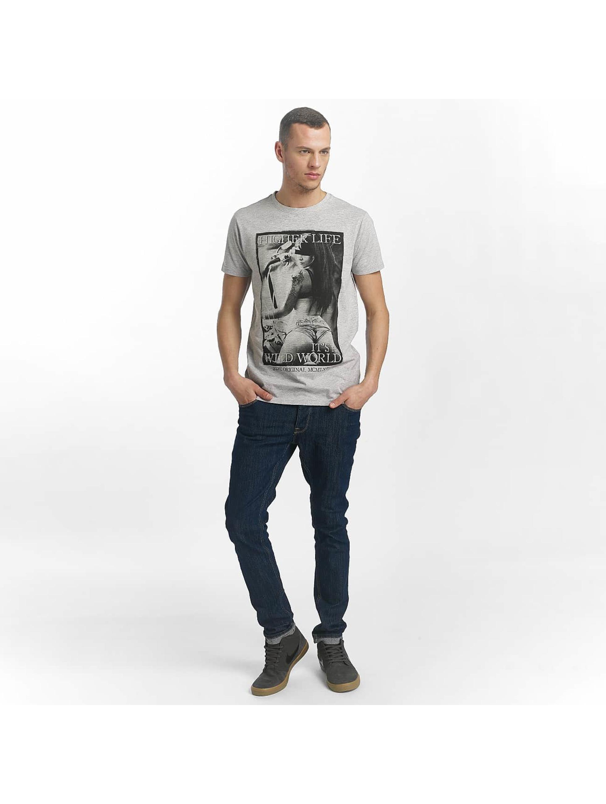 SHINE Original T-Shirt Play game Print grey