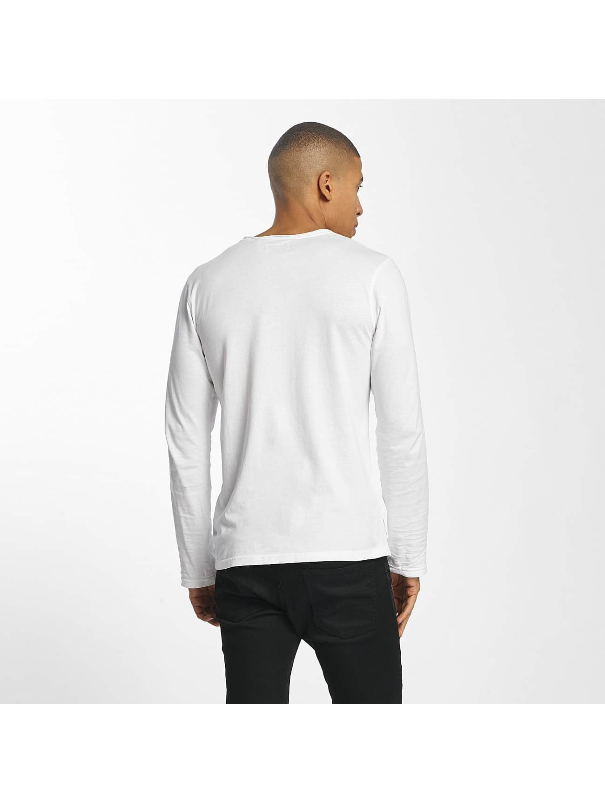SHINE Original T-Shirt manches longues Andrian Dyed & Wash Out blanc