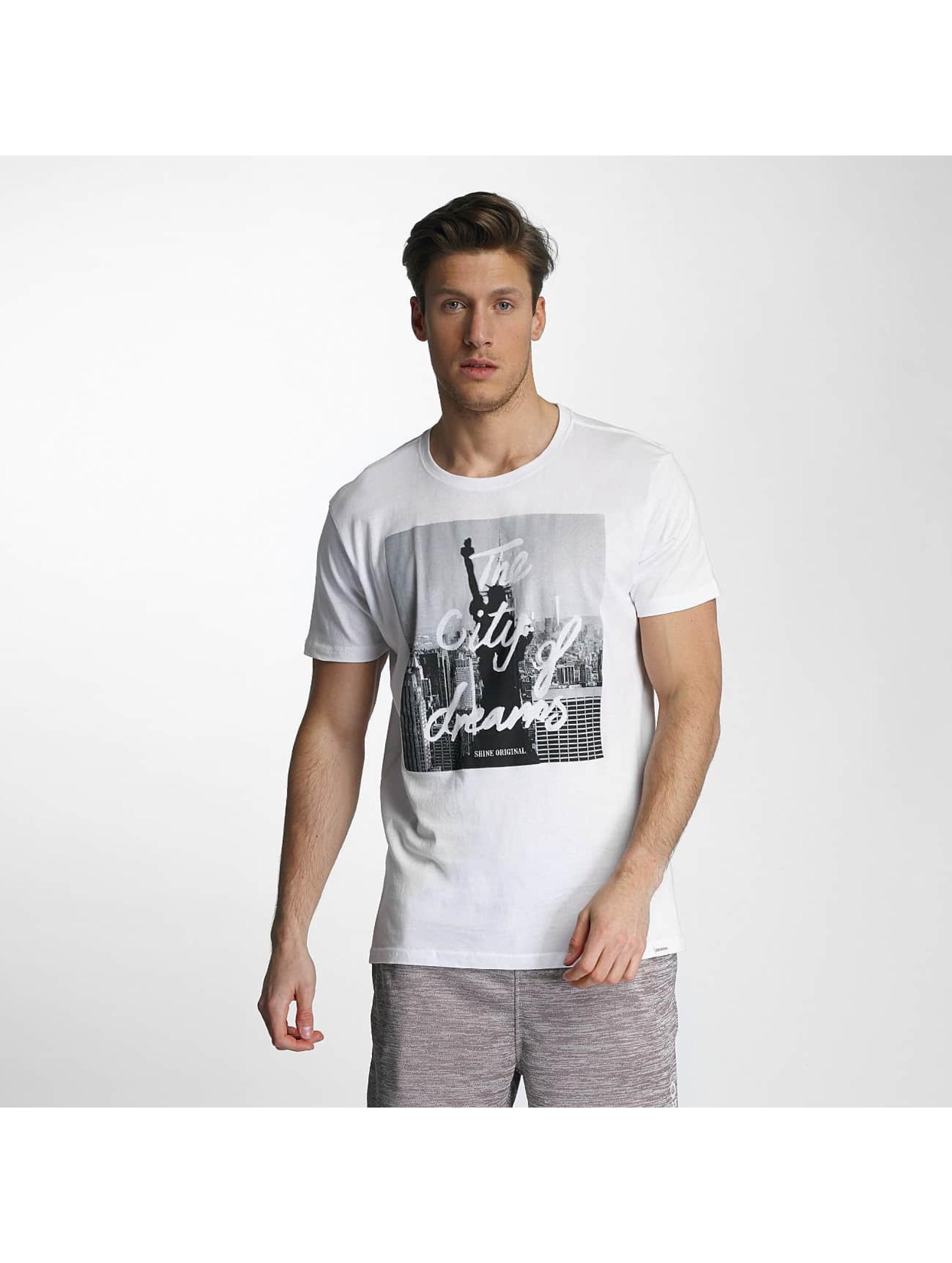 SHINE Original T-Shirt City Lane weiß