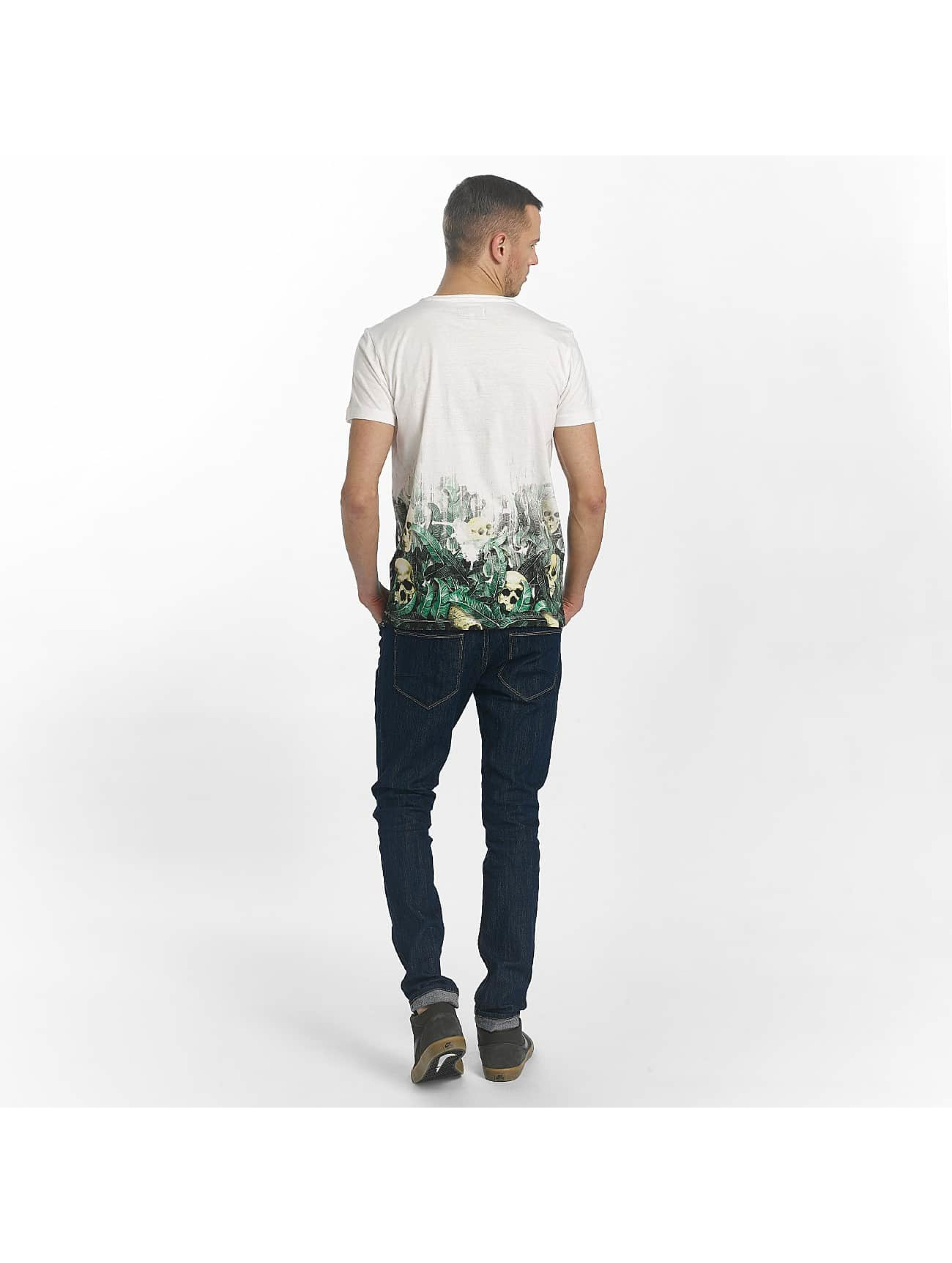 SHINE Original T-Shirt Leonard Gradient Skull Print white