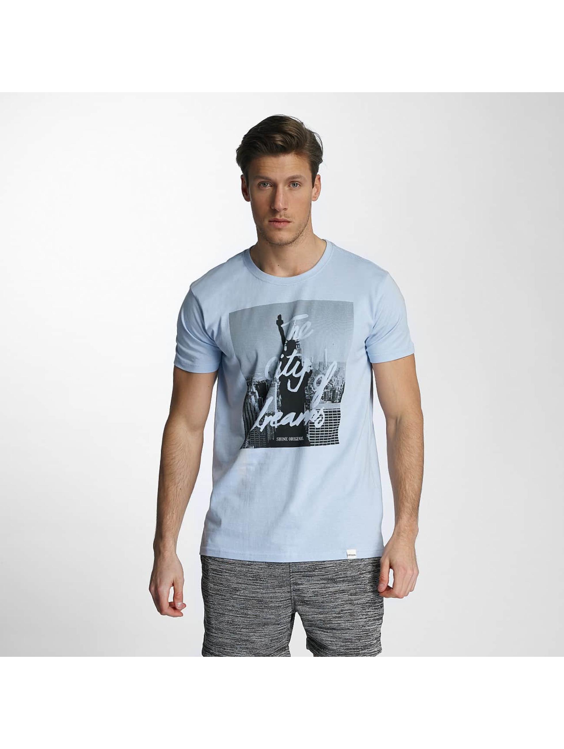 SHINE Original T-shirts City Lane blå