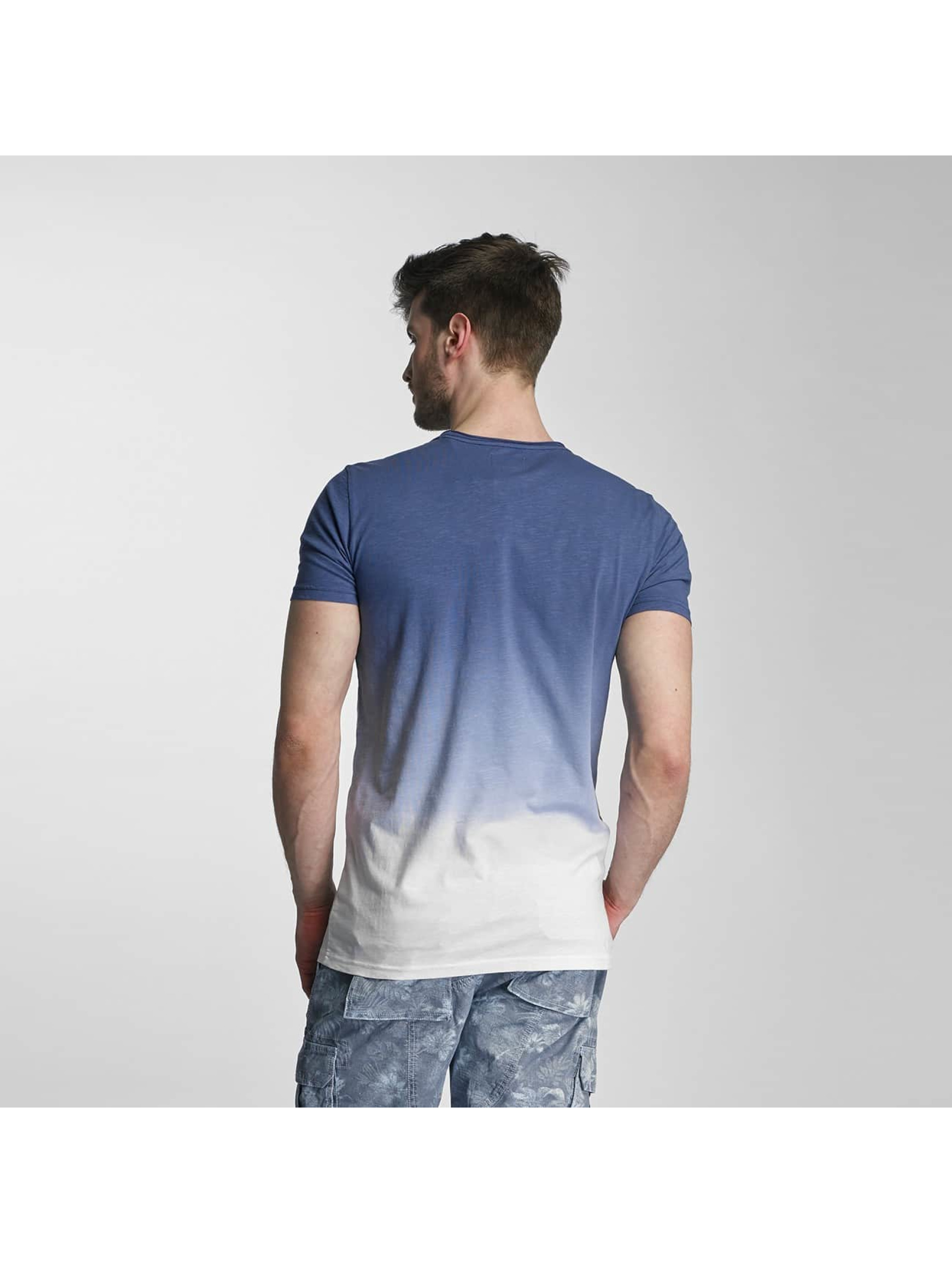 SHINE Original T-shirts Dip Dyed blå