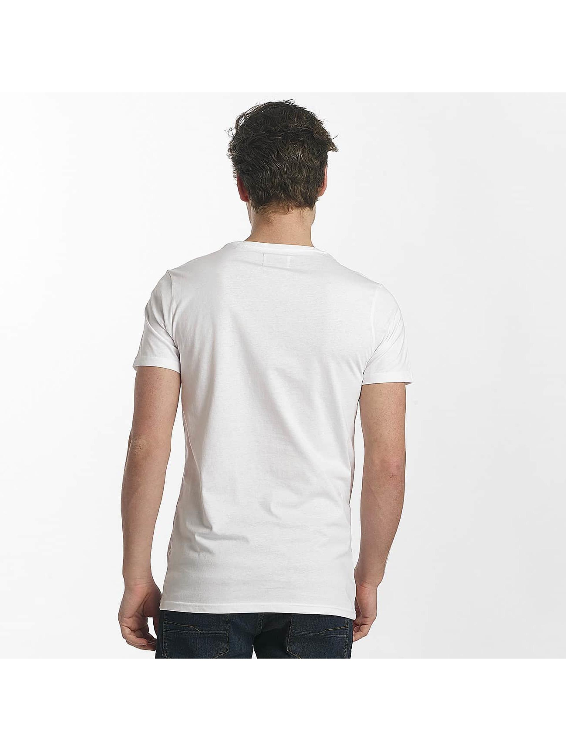 SHINE Original T-shirts Lupe Palm Print hvid
