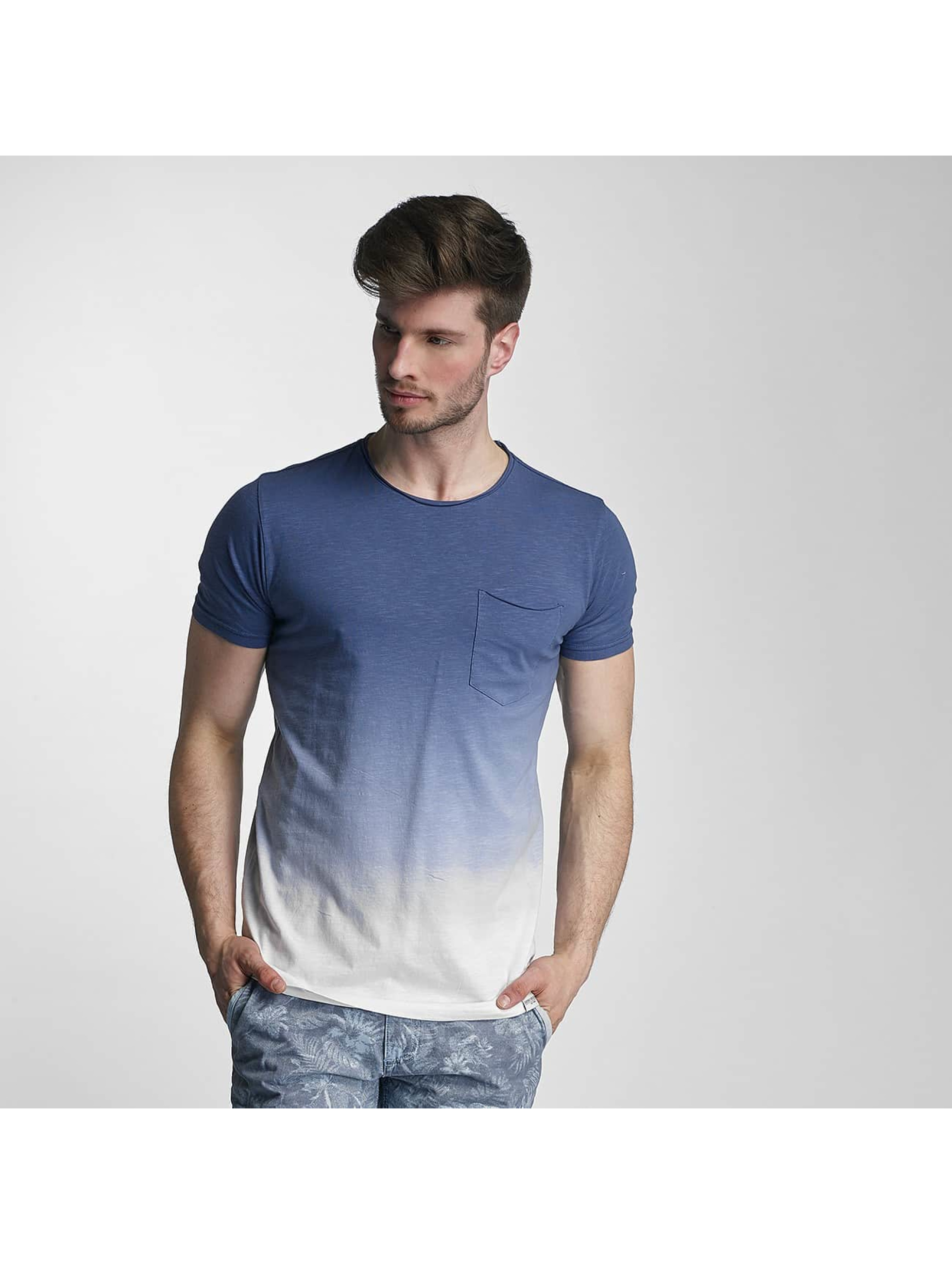 SHINE Original T-Shirty Dip Dyed niebieski