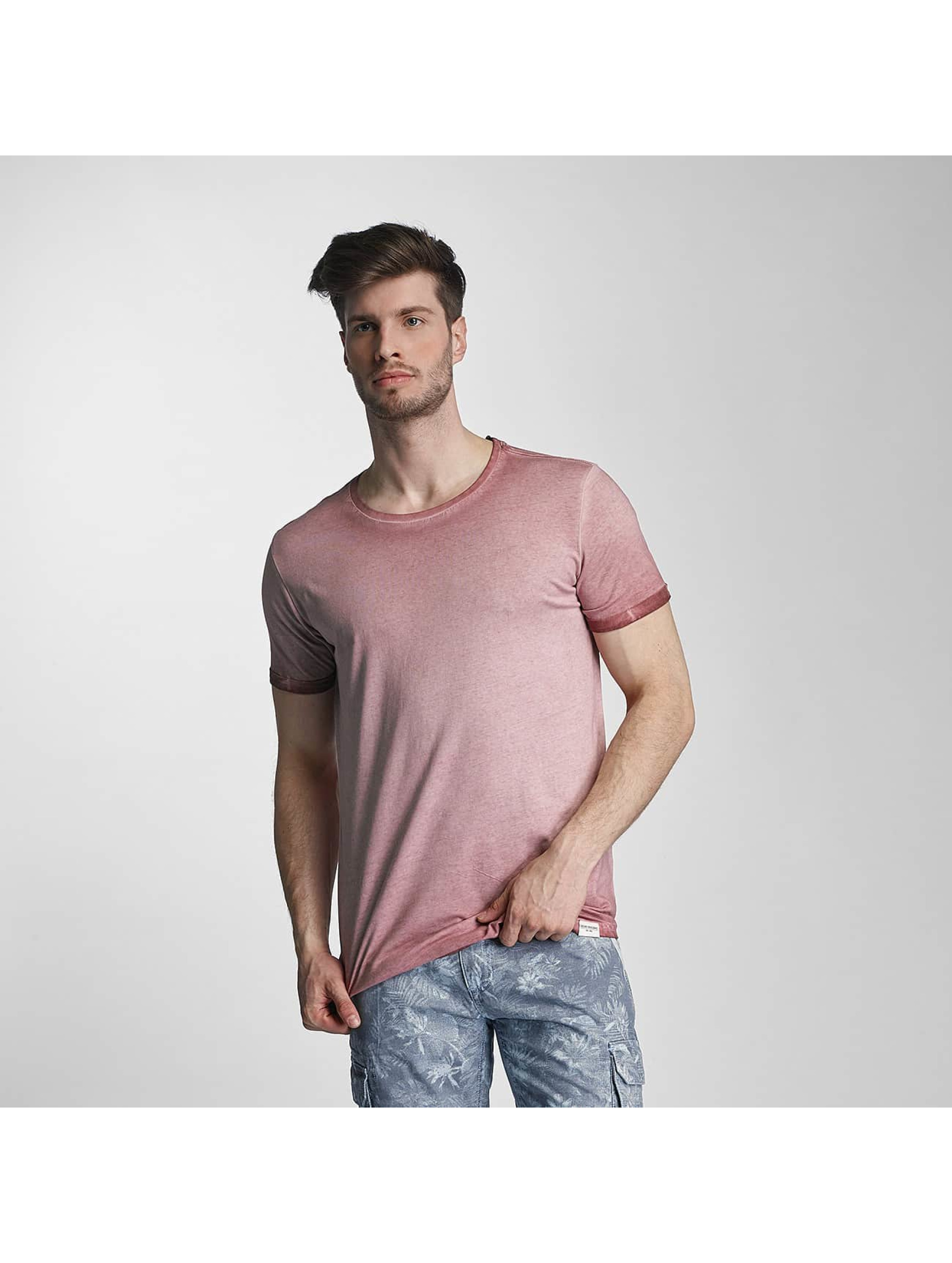 SHINE Original T-Shirty Dirt Dye Wash rózowy