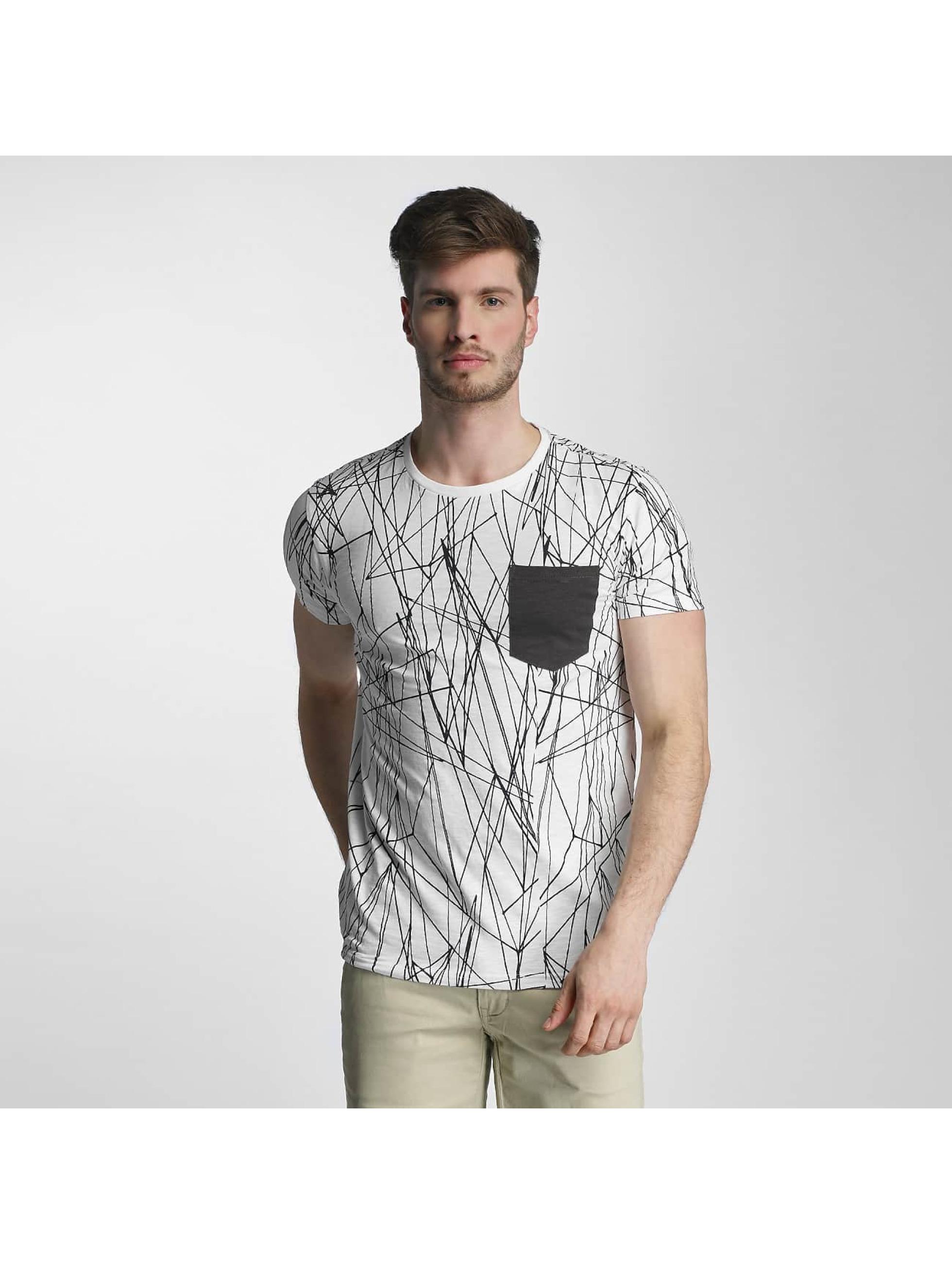 SHINE Original T-skjorter Long Oversize Jarrod hvit