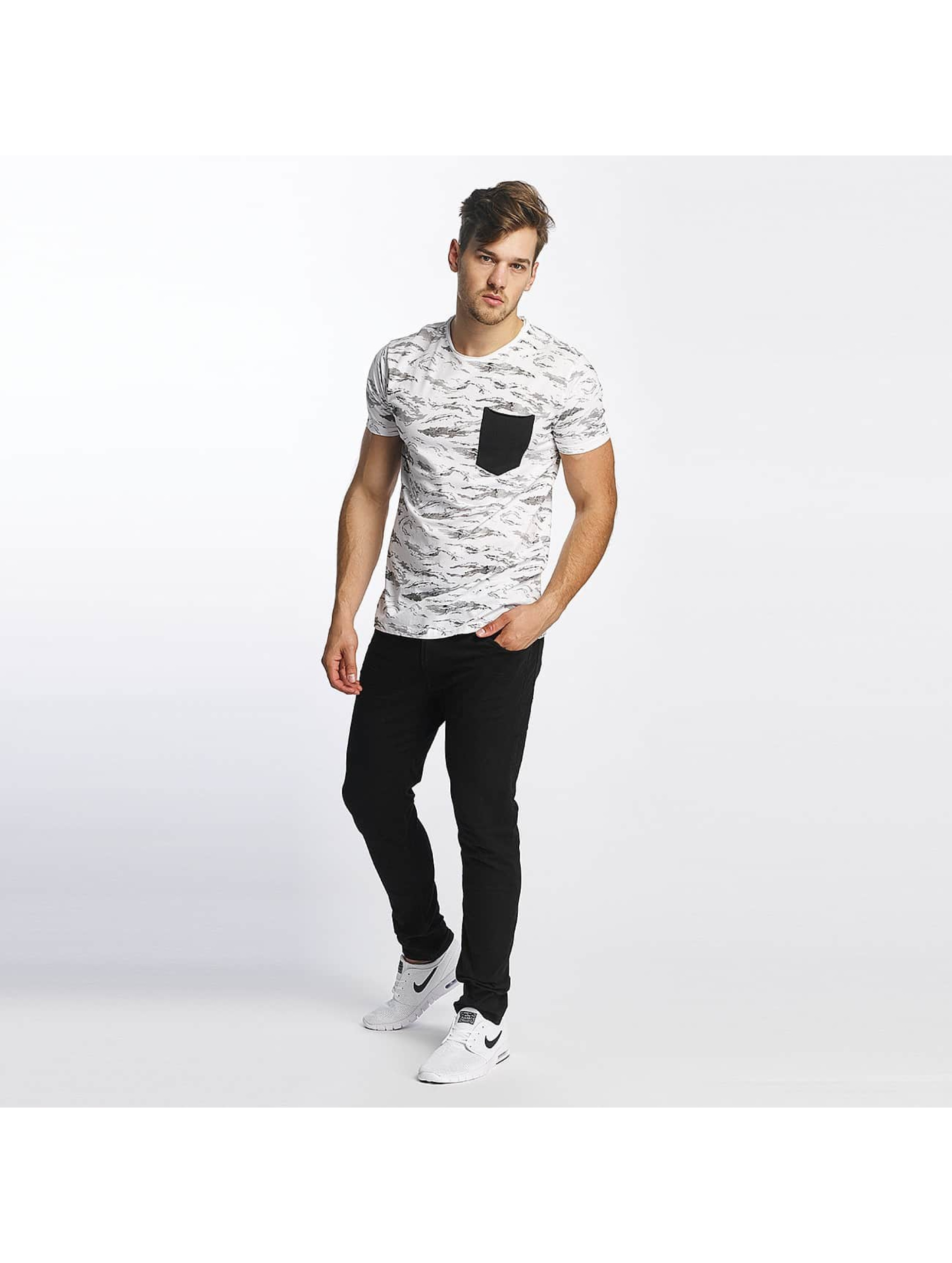 SHINE Original T-skjorter All Over Print hvit