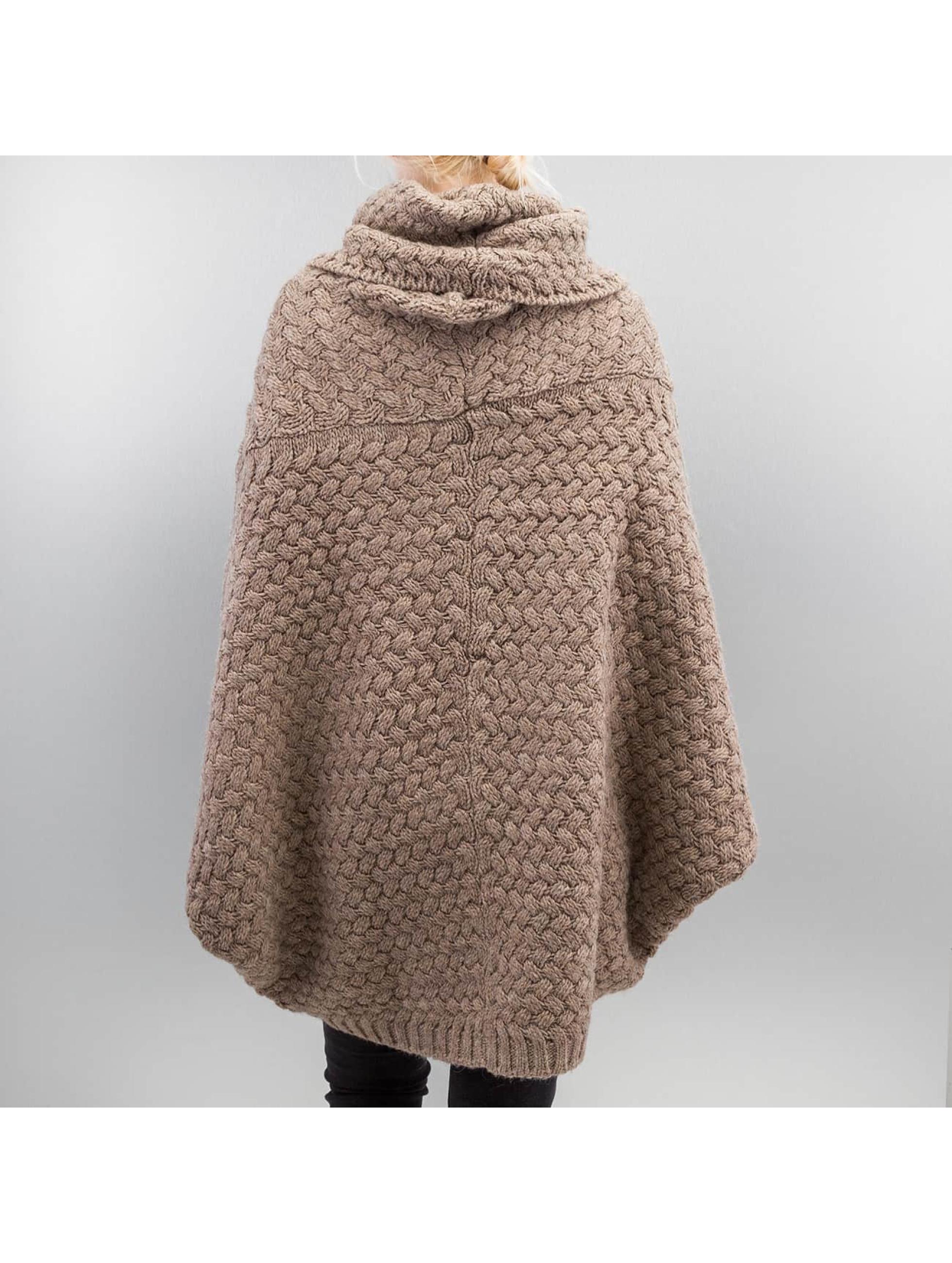 Shisha  Кардиган Muus Poncho коричневый
