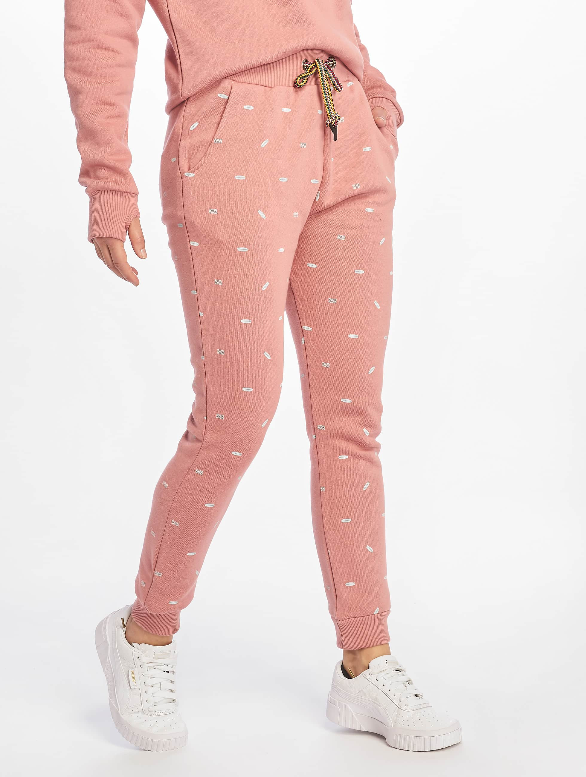 Shisha Bloom Sweat Pants Light Mahagony