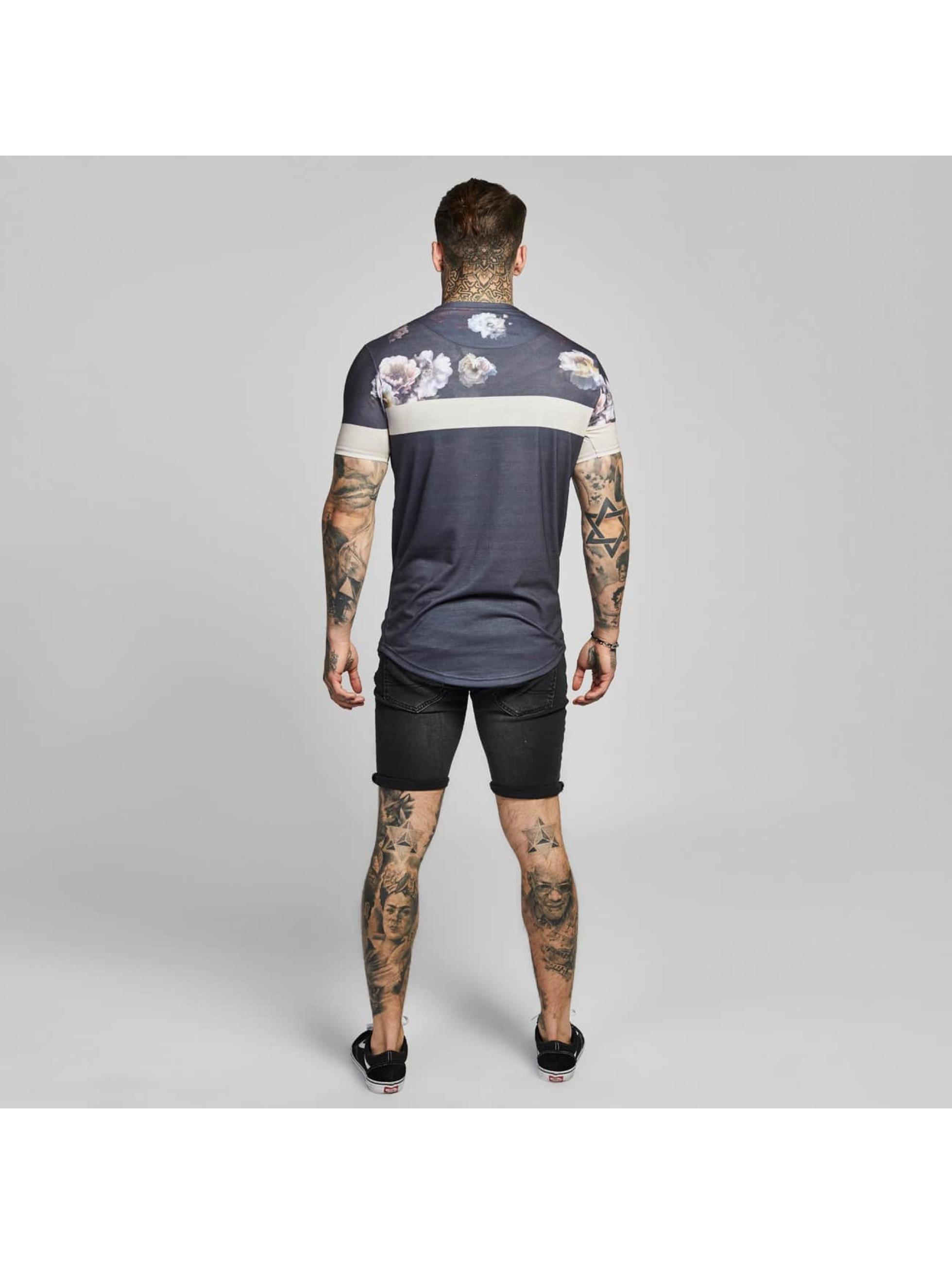 Sik Silk Футболка Curved Hem Sports серый