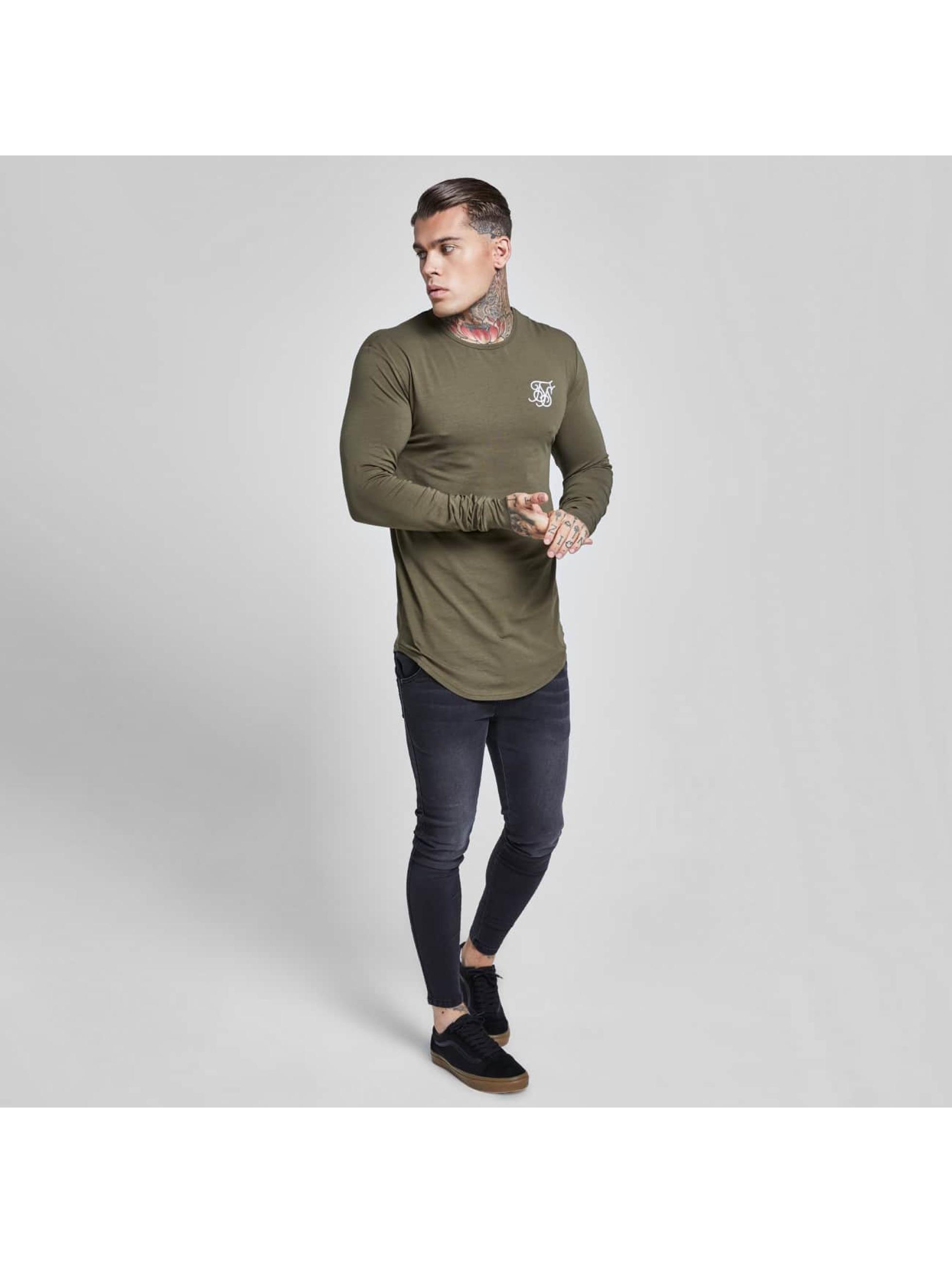 Sik Silk Pitkähihaiset paidat Gym khakiruskea