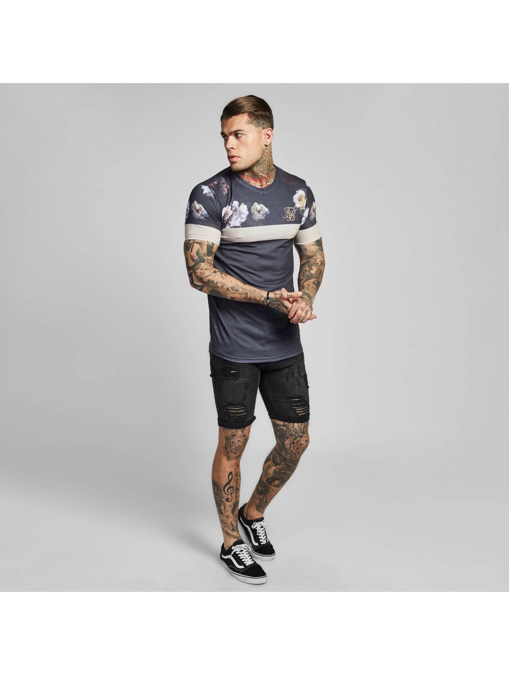 Sik Silk T-Shirt Curved Hem Sports grey