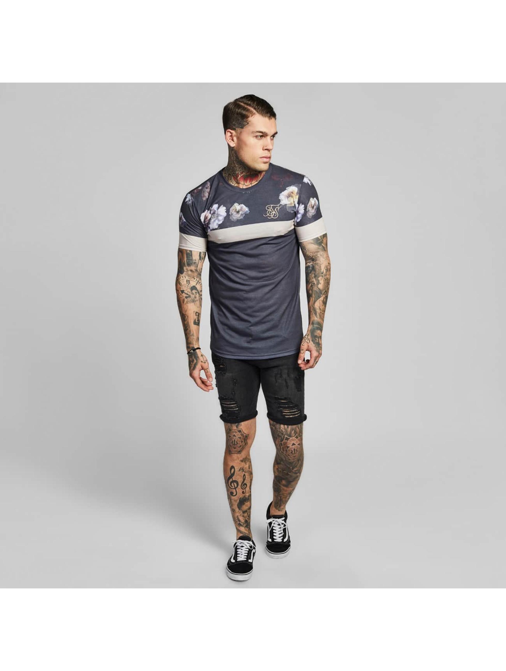 Sik Silk T-shirts Curved Hem Sports grå