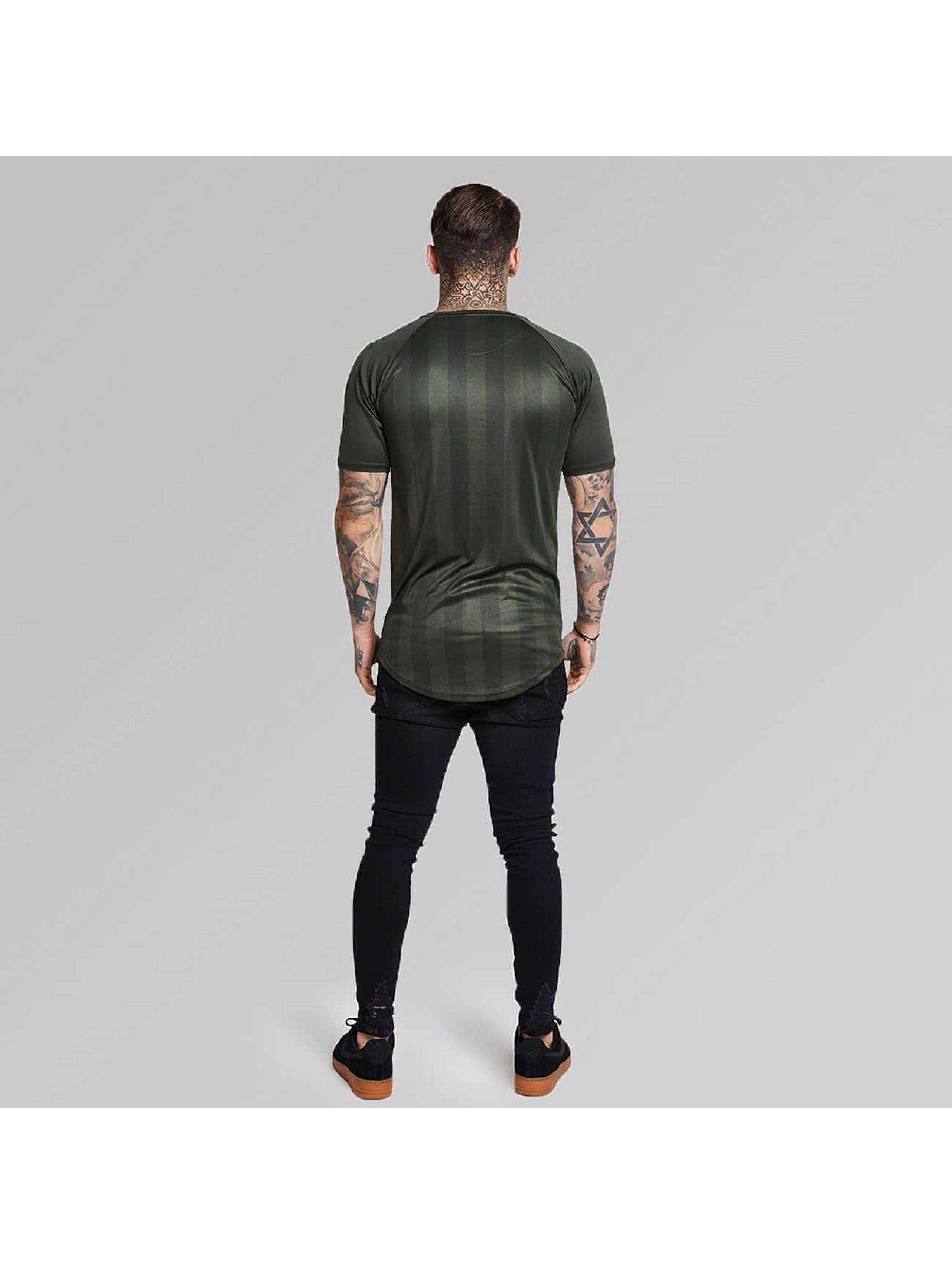 Sik Silk T-shirts Shadow Stripe khaki