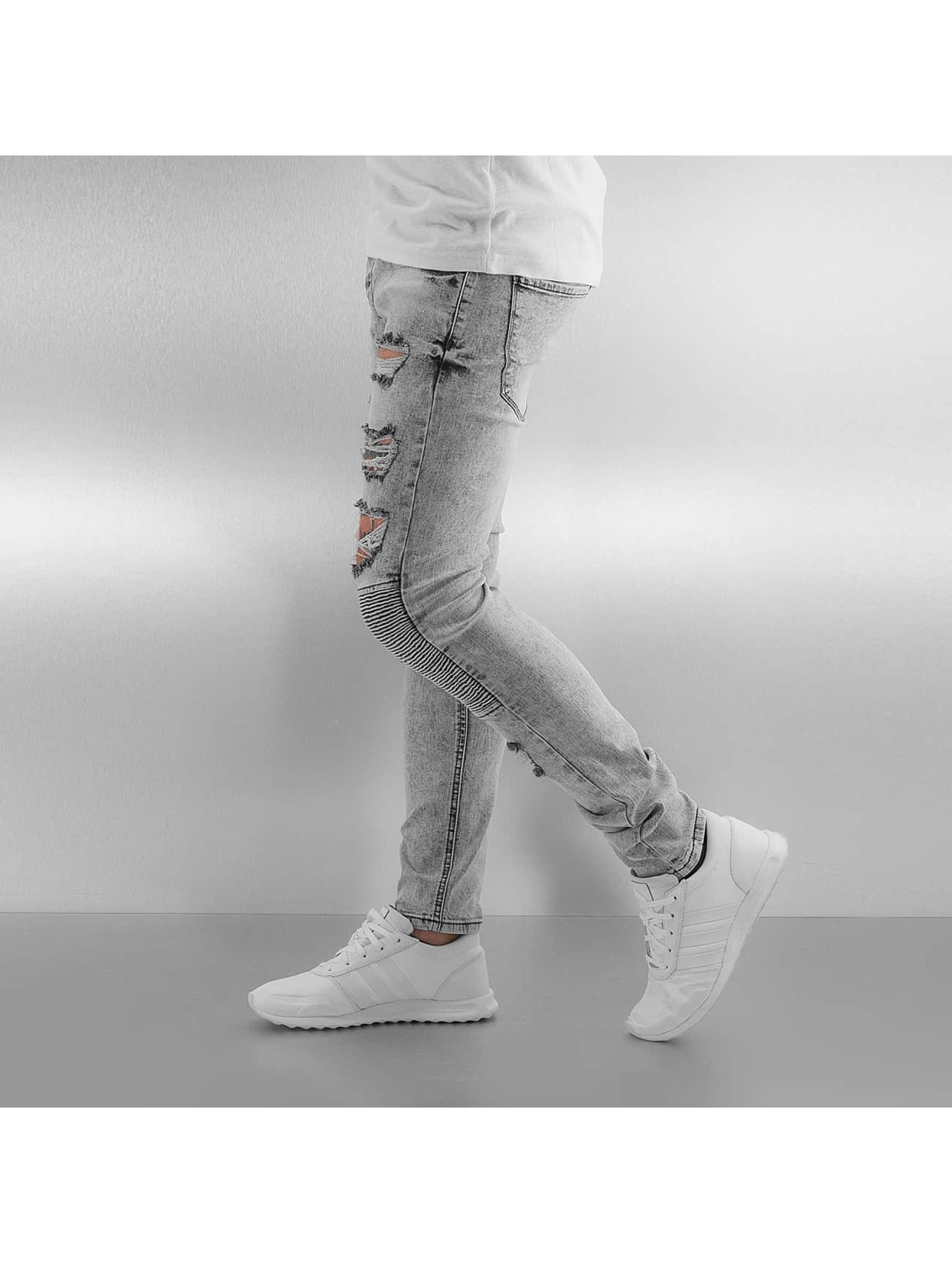 Sixth June Облегающие джинсы Radge Biker серый