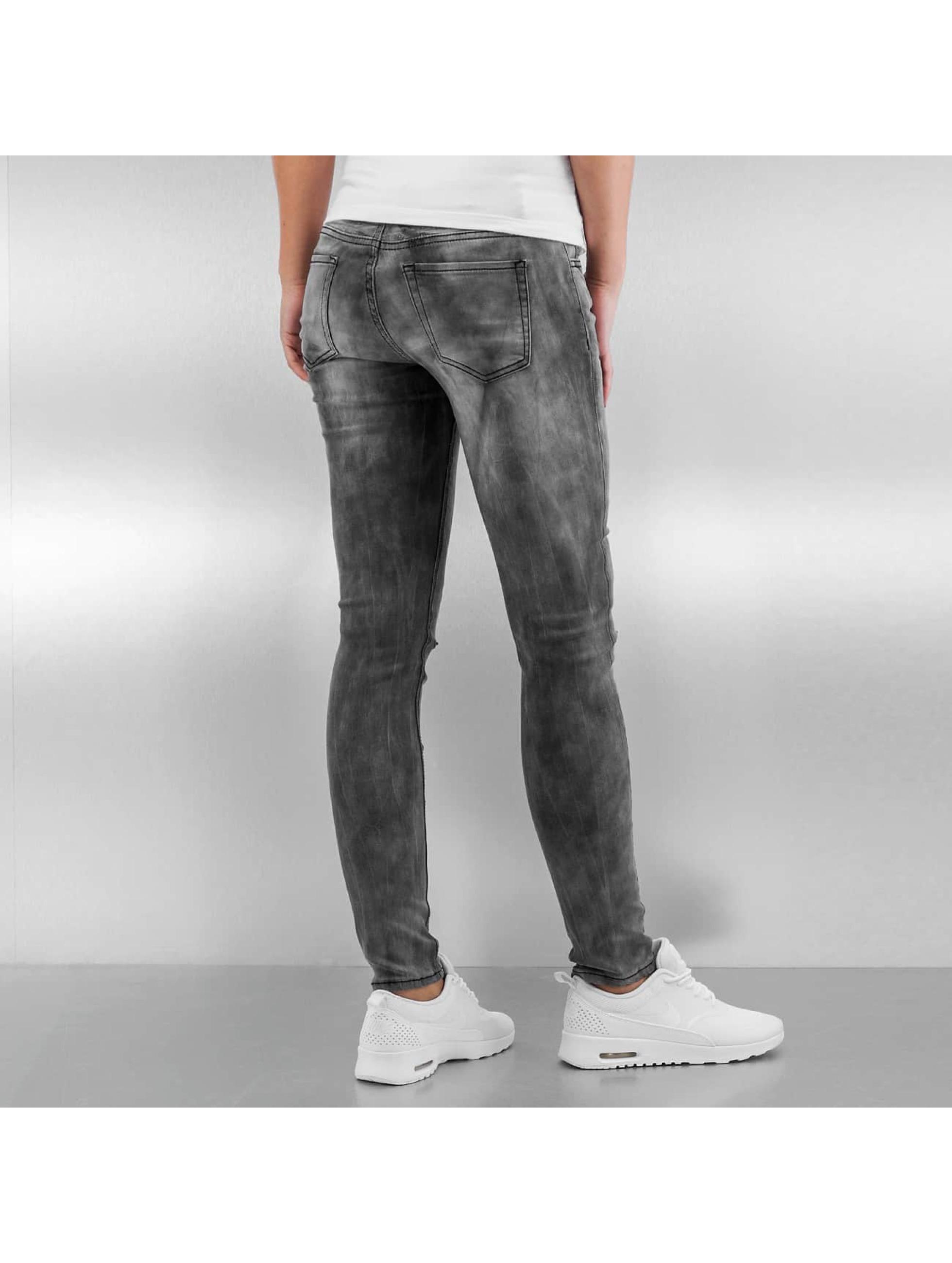 Sixth June Облегающие джинсы Tie and Dye серый
