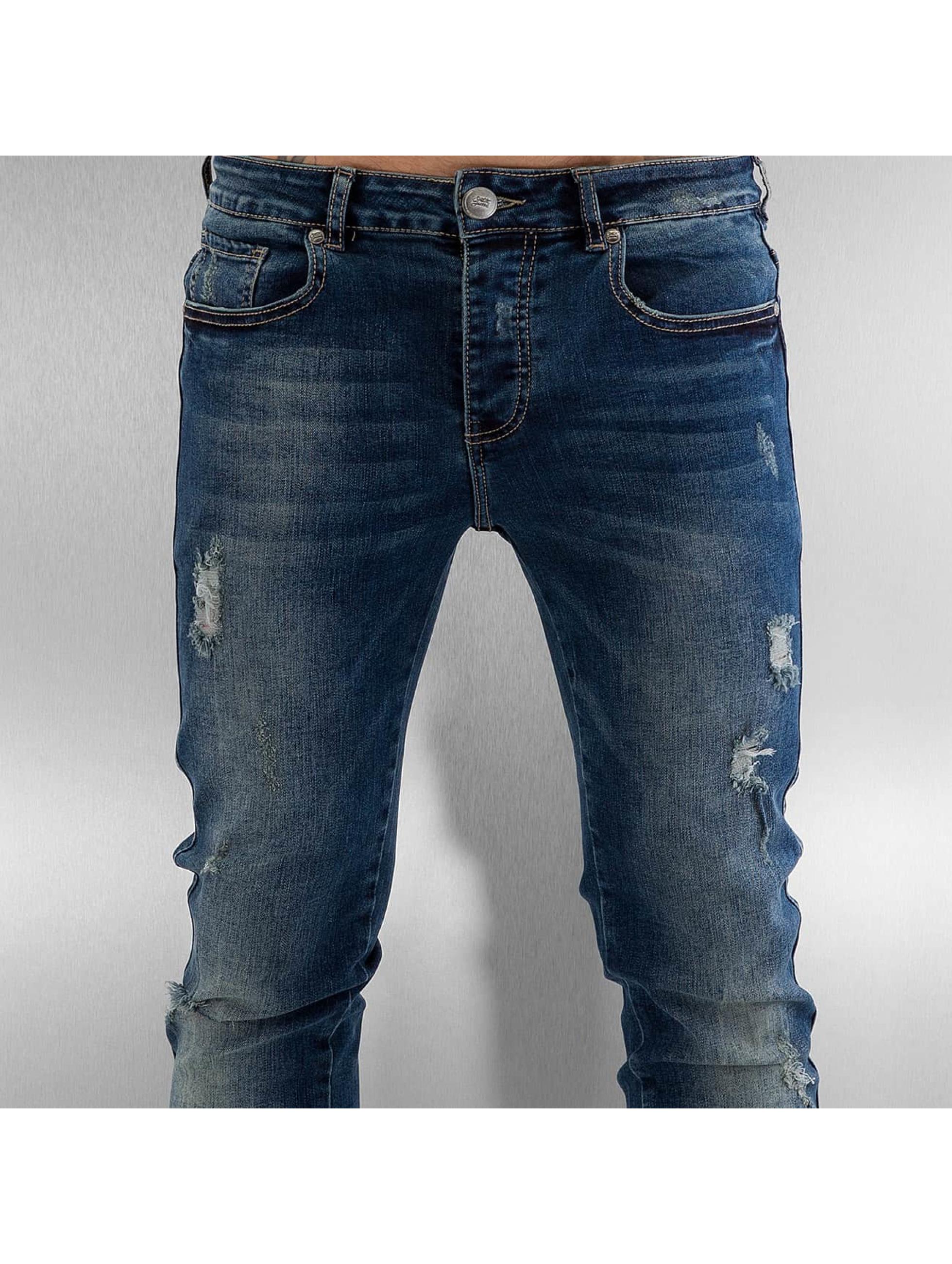 Sixth June Облегающие джинсы Elasticated синий