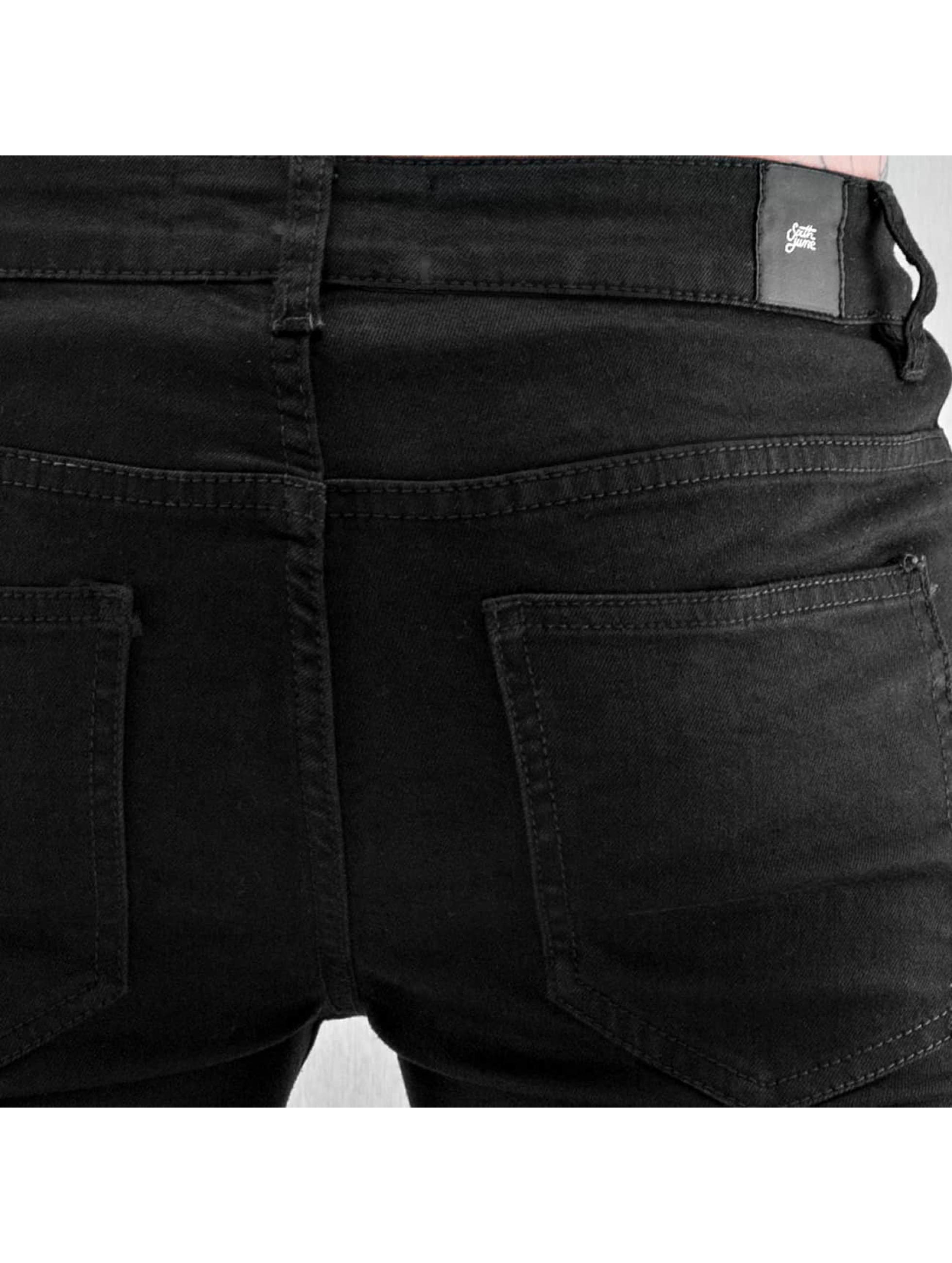 Sixth June Облегающие джинсы Opened On Knee черный