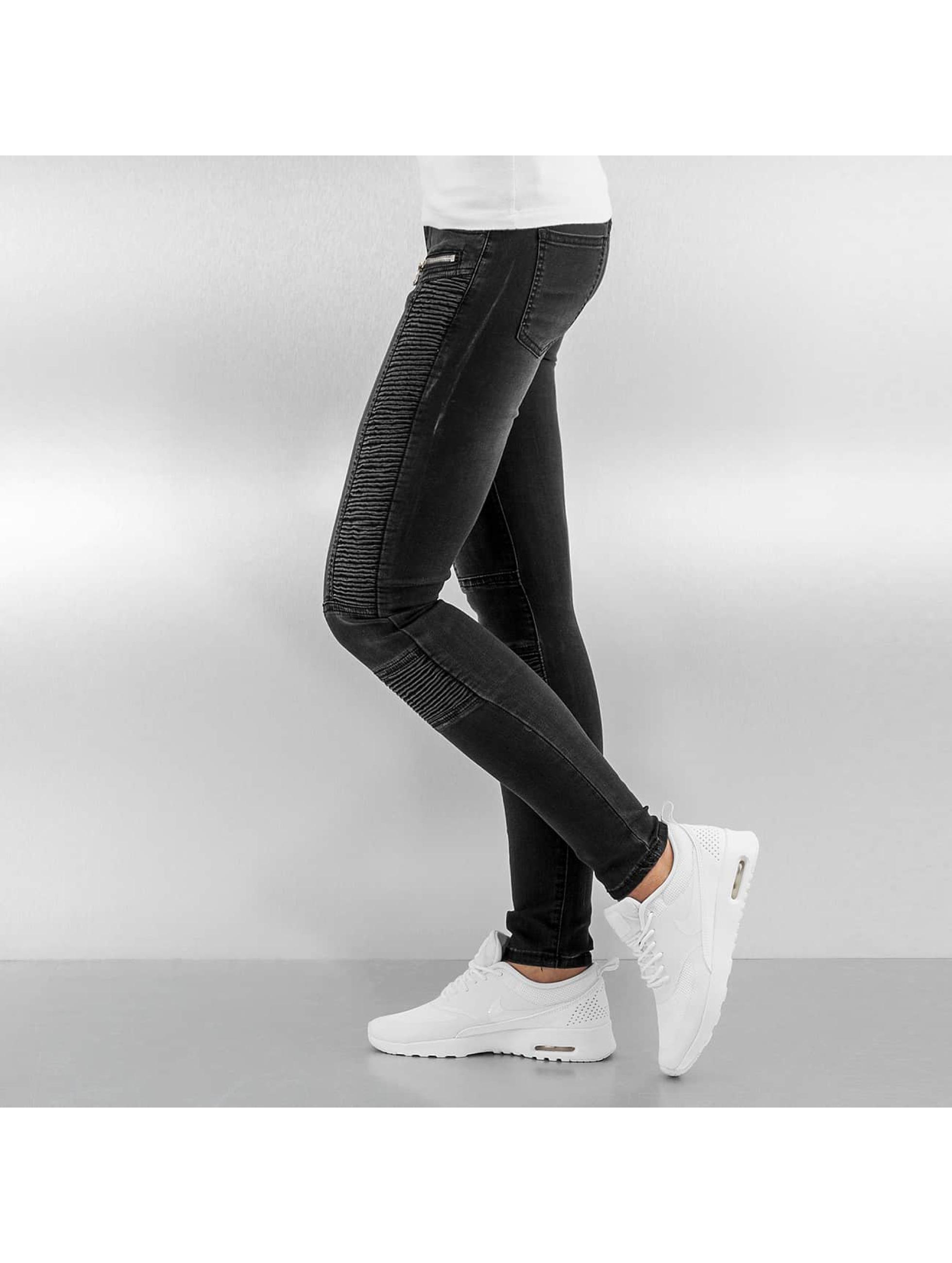 Sixth June Облегающие джинсы Biker черный