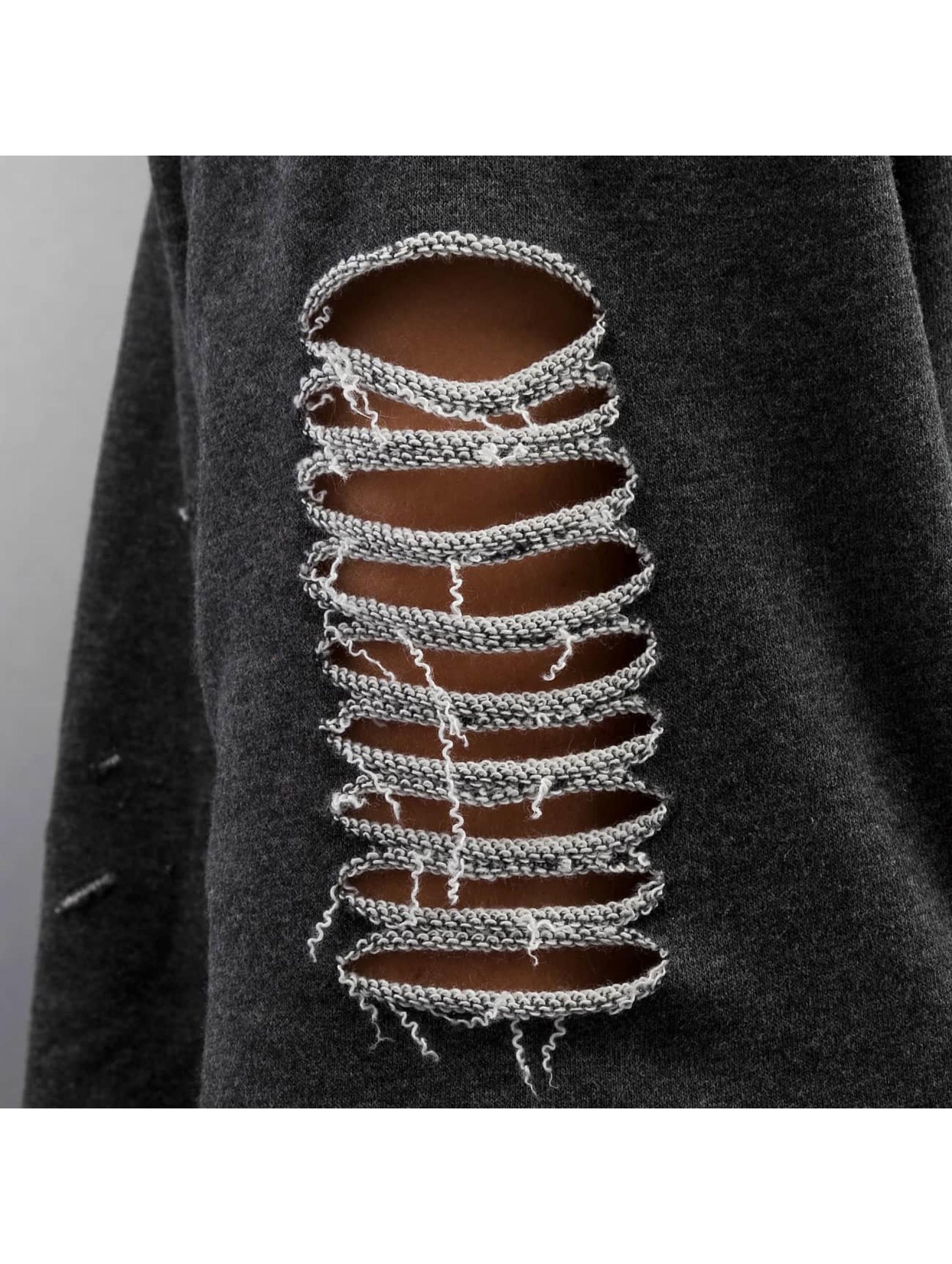 Sixth June Пуловер Oversited Ultra Destroyed серый