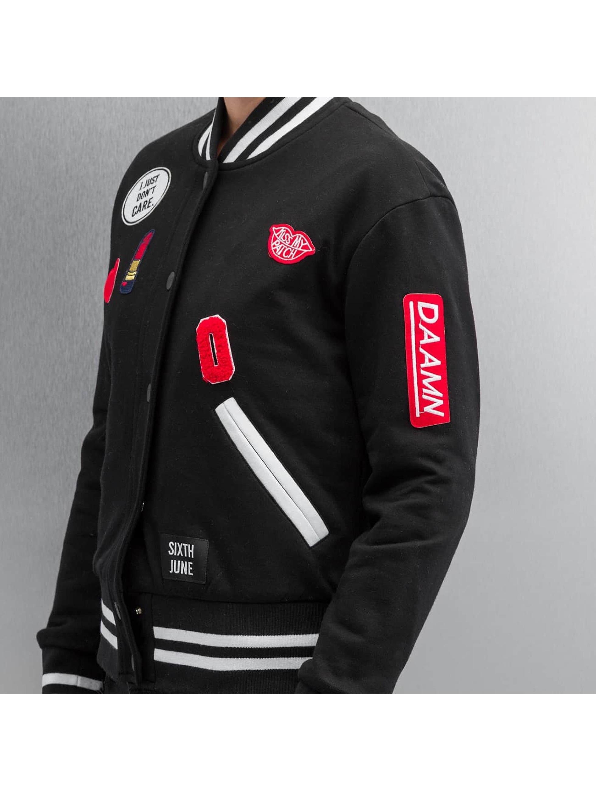Sixth June Университетская куртка Teddy черный