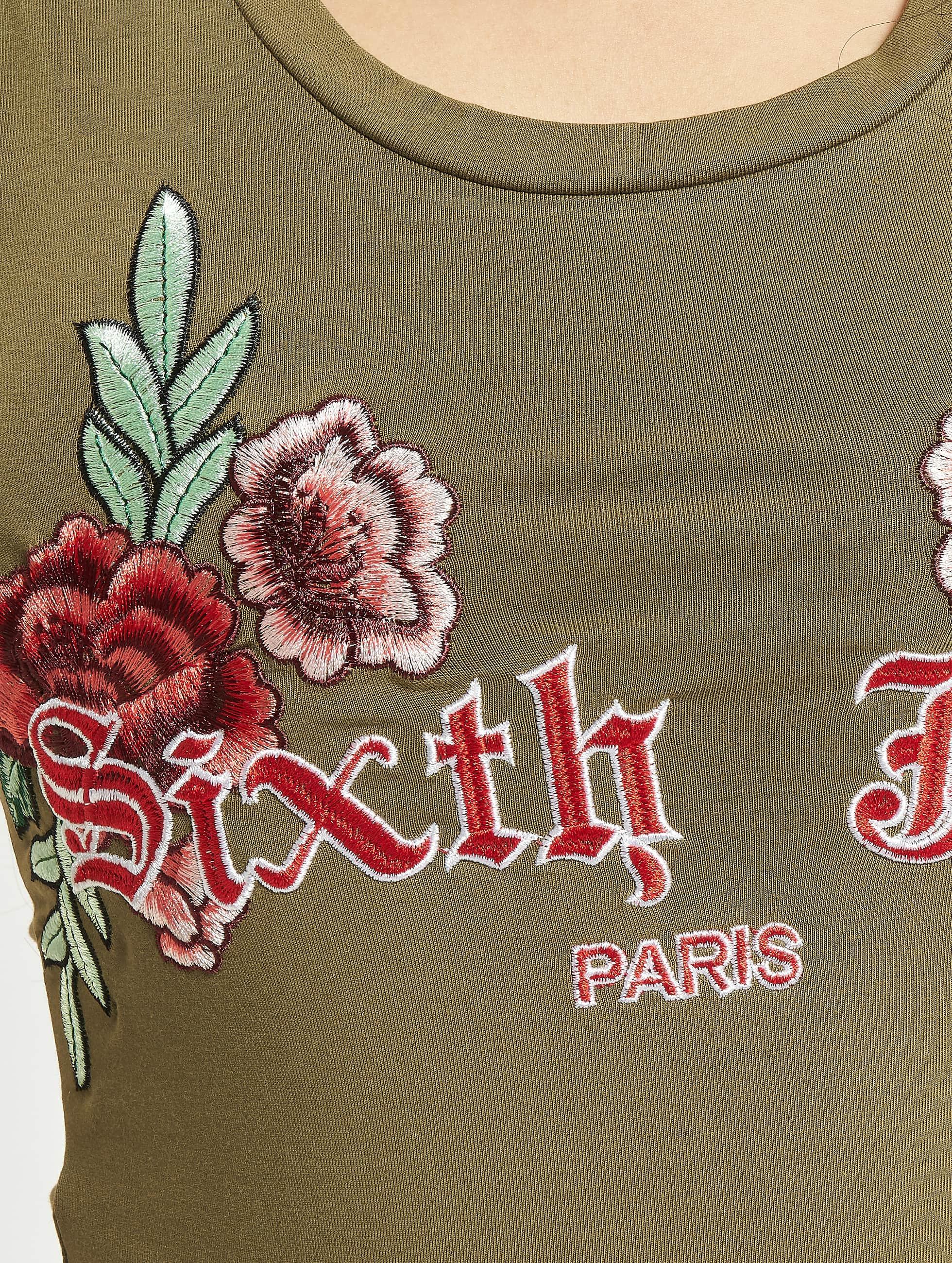 Sixth June Bodystocking Roses khaki