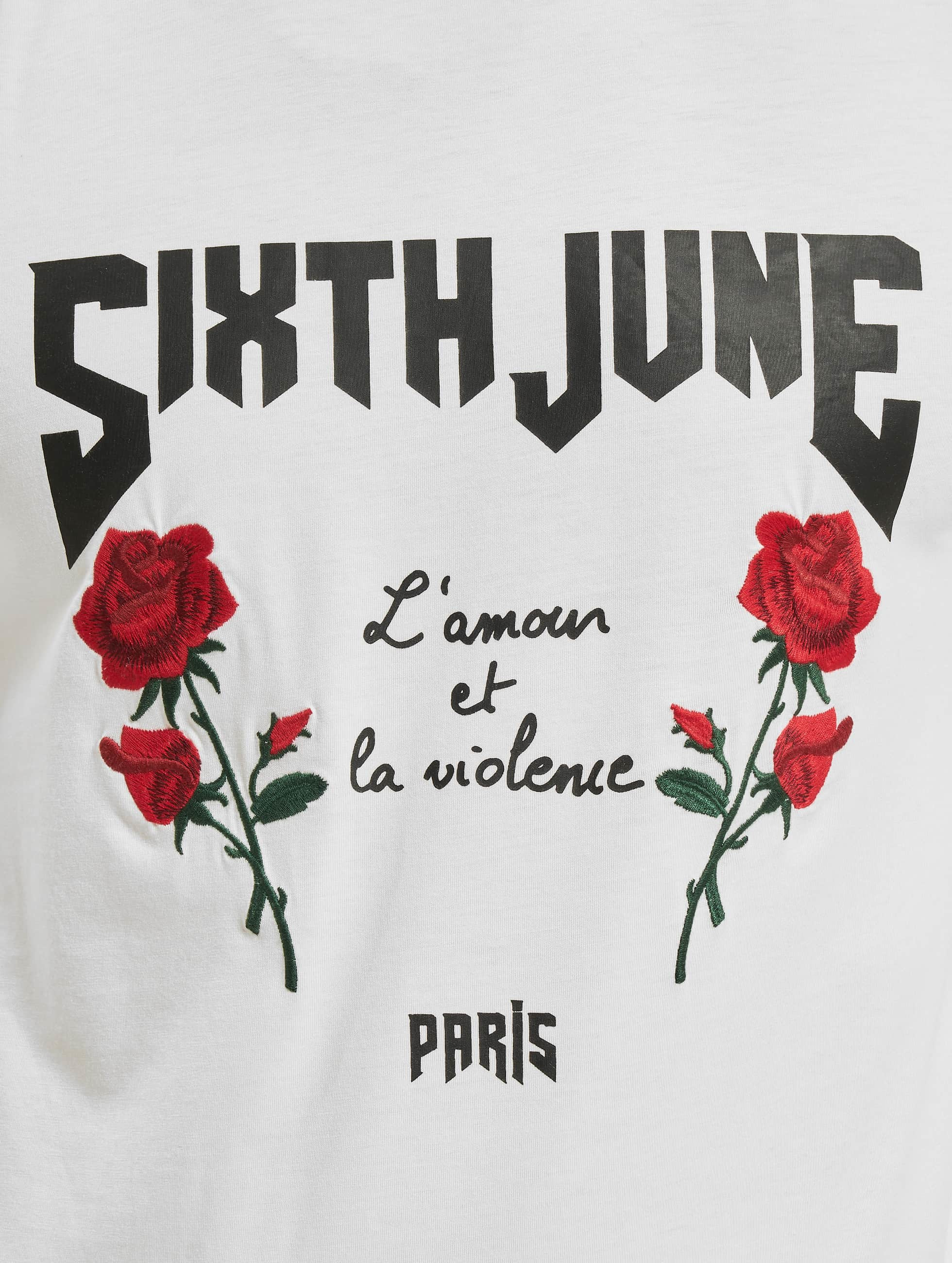 Sixth June Camiseta de manga larga Tōhoku blanco