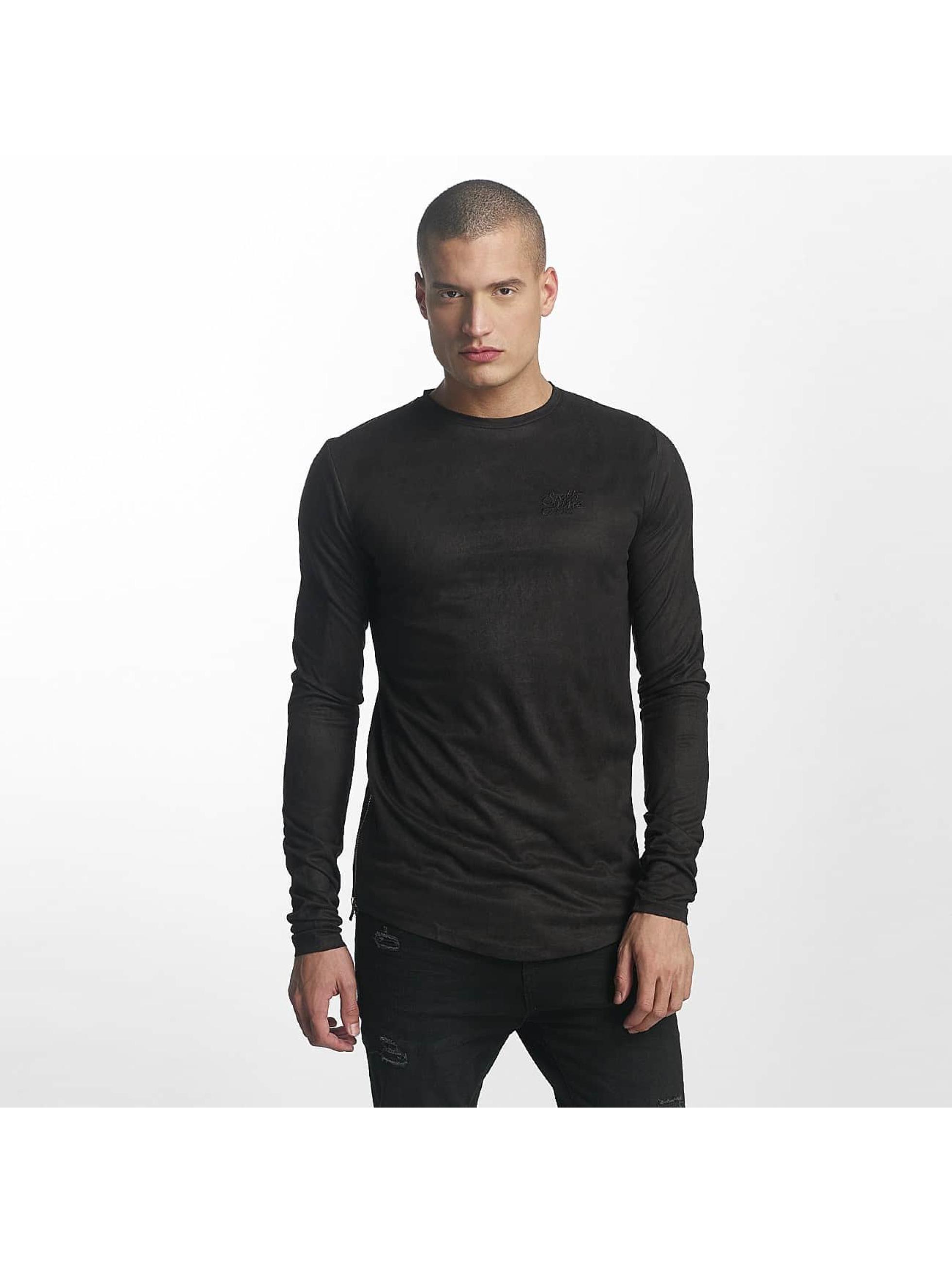 Sixth June Camiseta de manga larga Skinny Basic negro