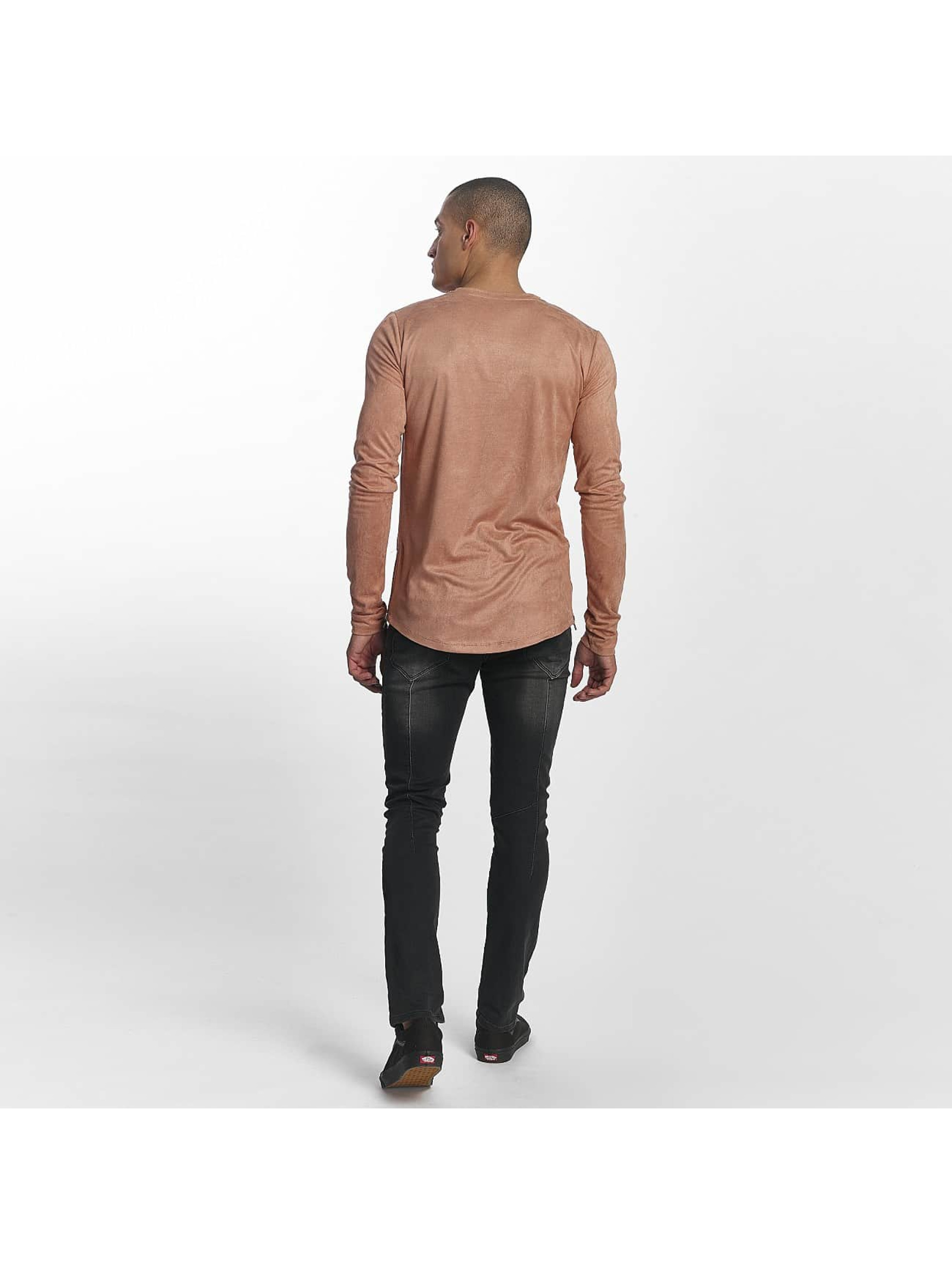 Sixth June Camiseta de manga larga Skinny Basic rosa
