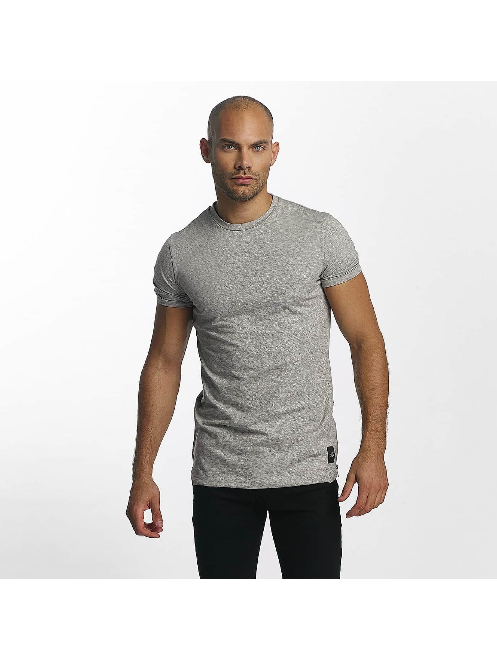 Sixth June Camiseta Skinny Round Bottom gris