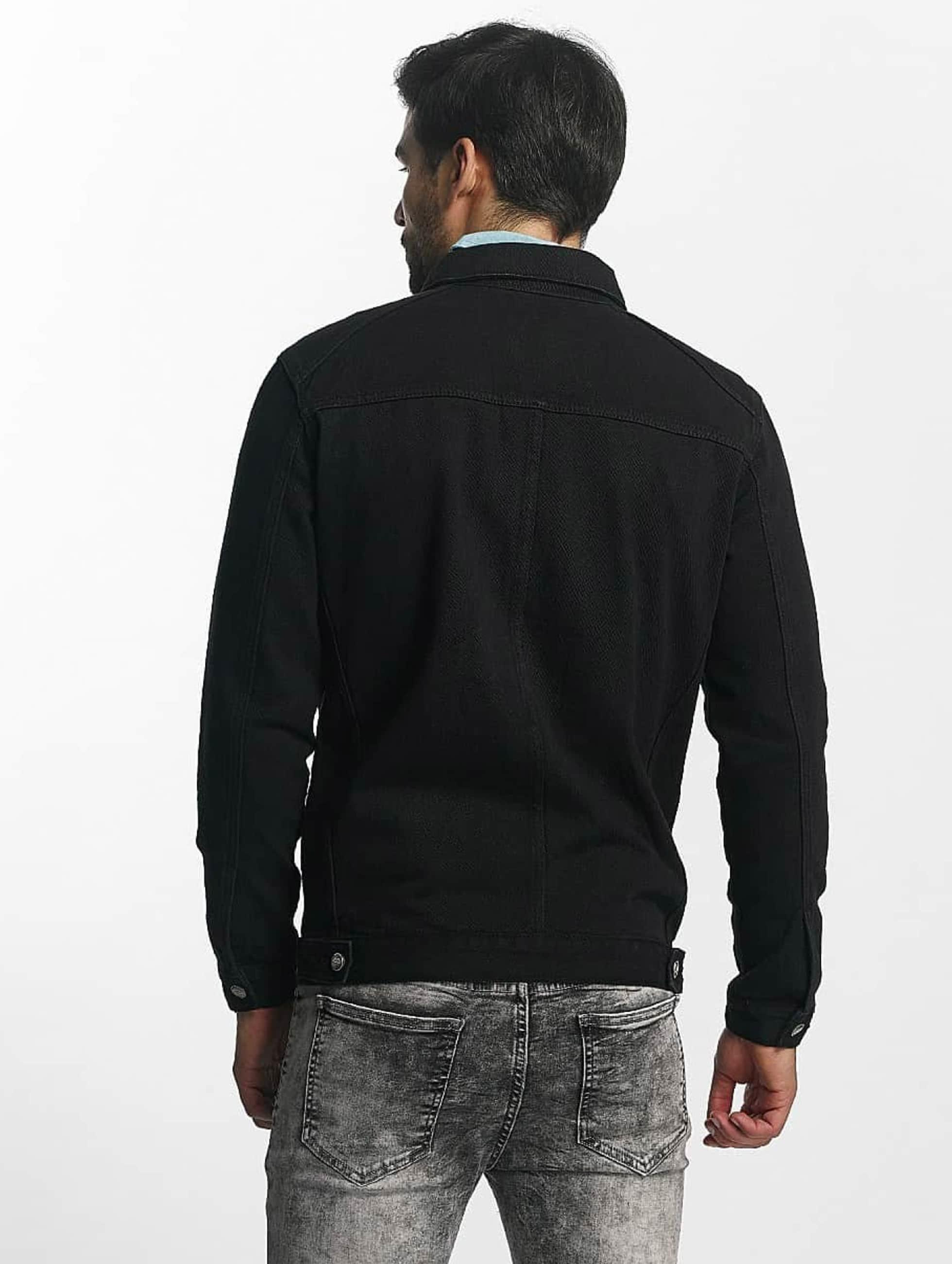 Sixth June Chaqueta de entretiempo Regular Pocket Demin negro