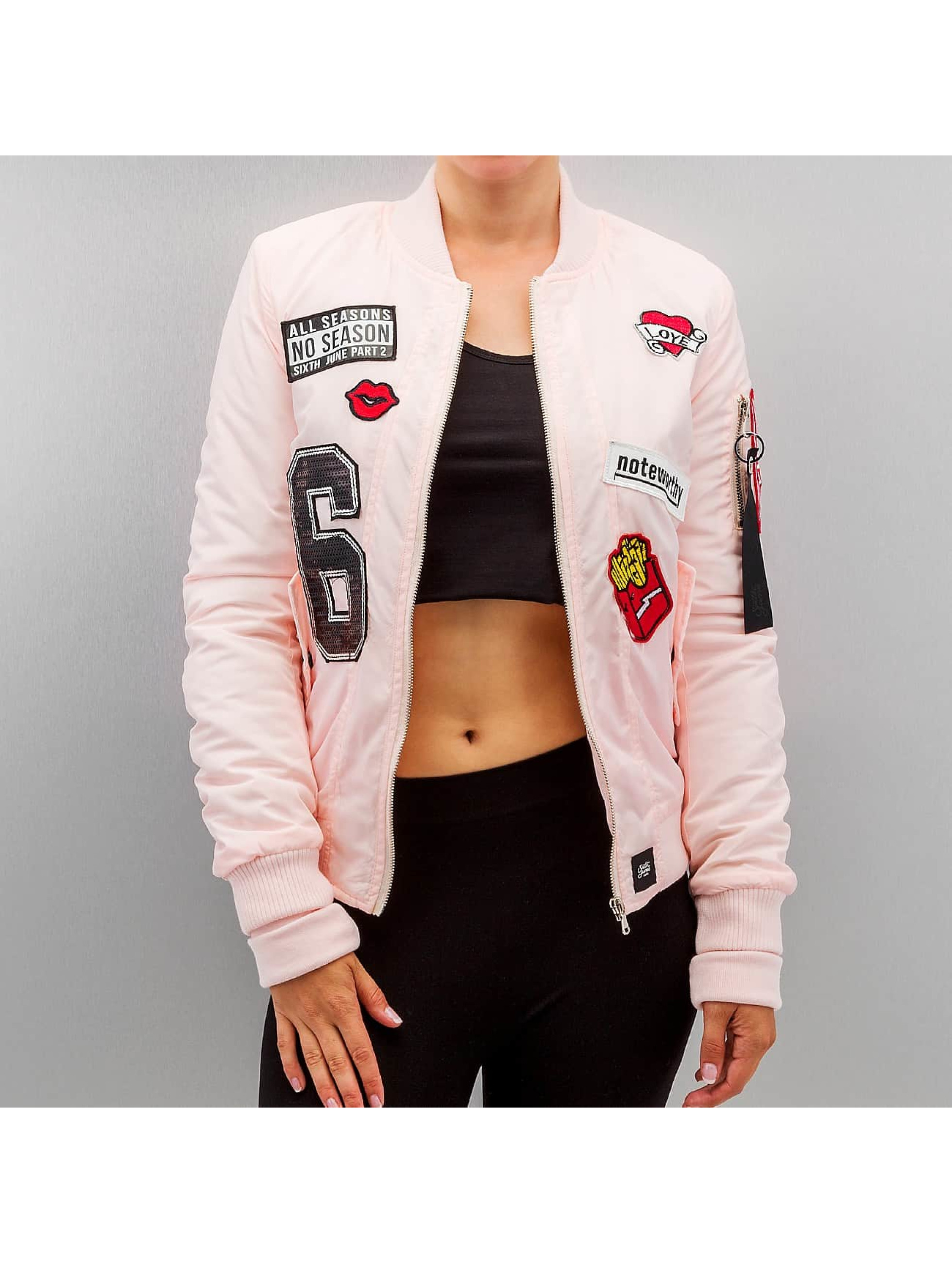 College Jacke Patch in rosa