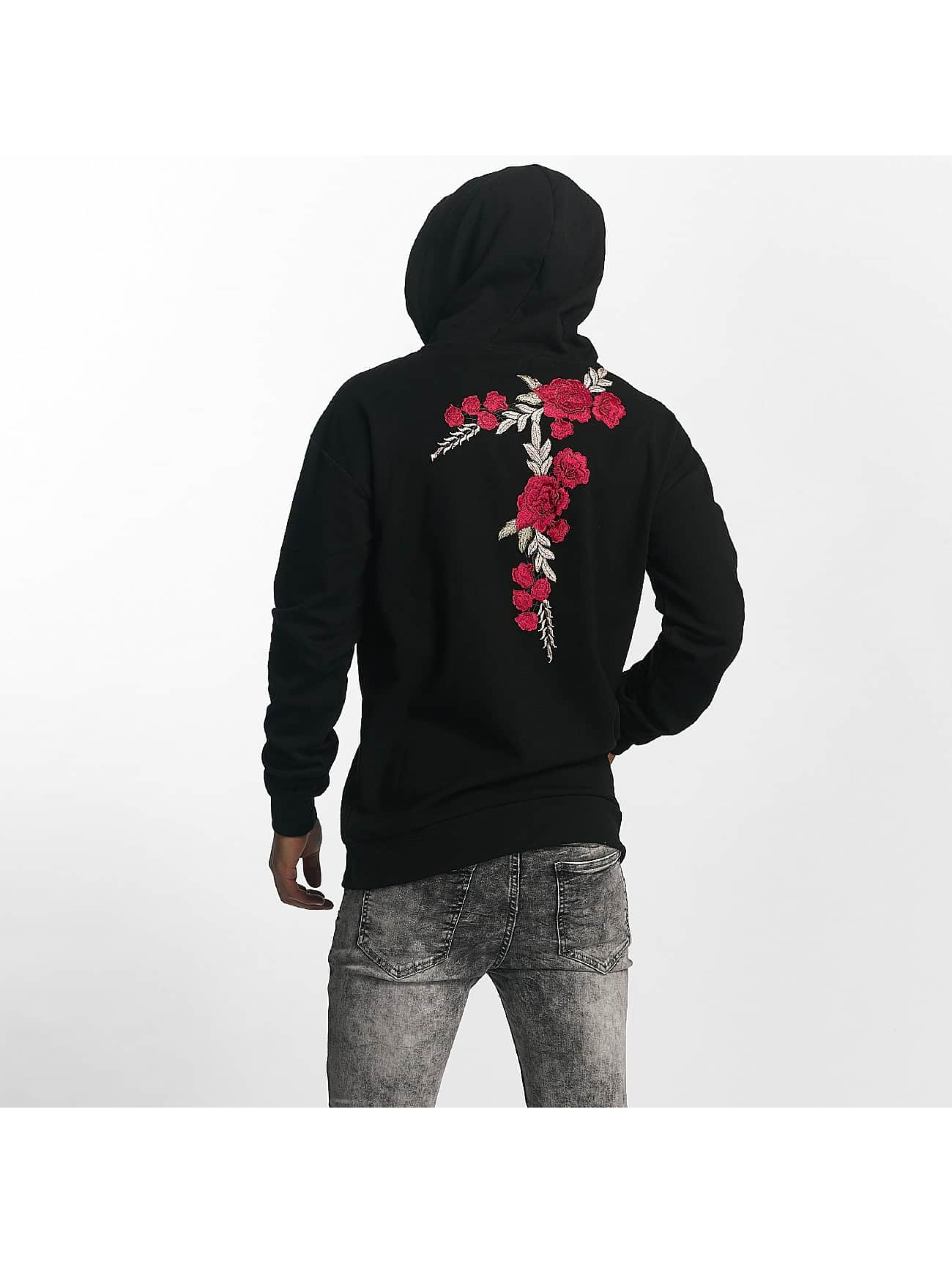 Sixth June Hoody Regular Roses schwarz