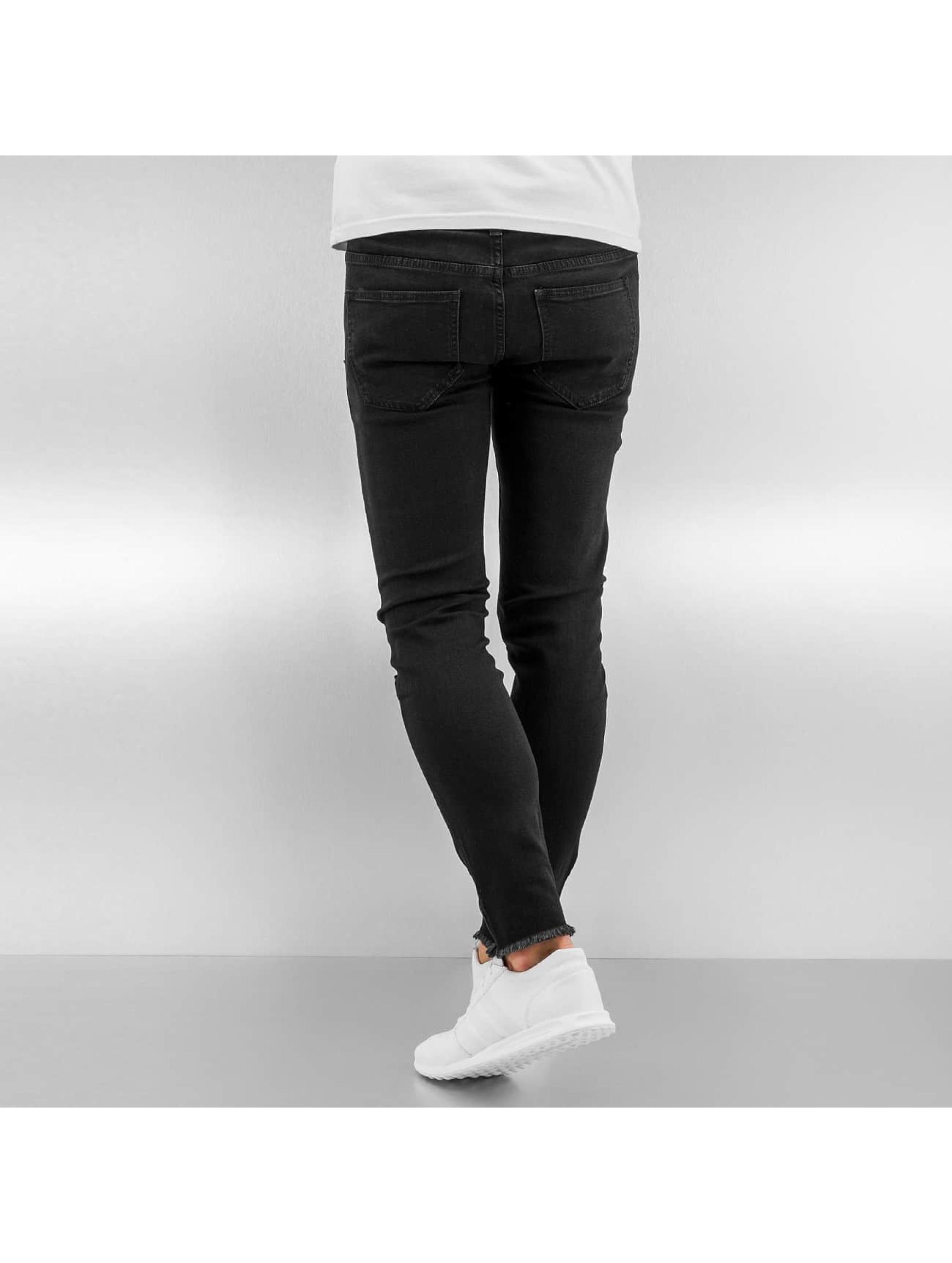 Sixth June Jean skinny Knee Cut noir