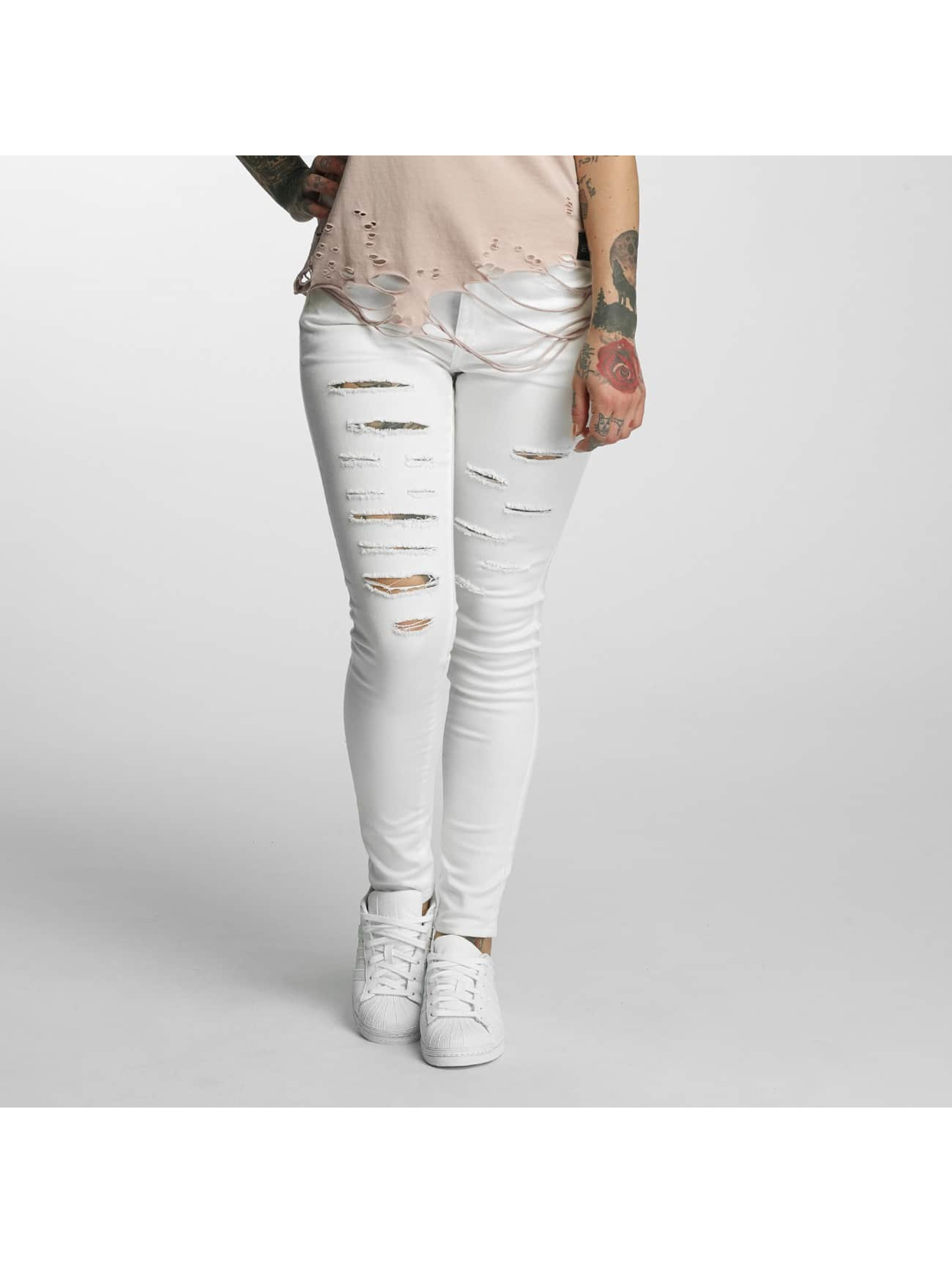Sixth June Jeans slim fit Skinny bianco