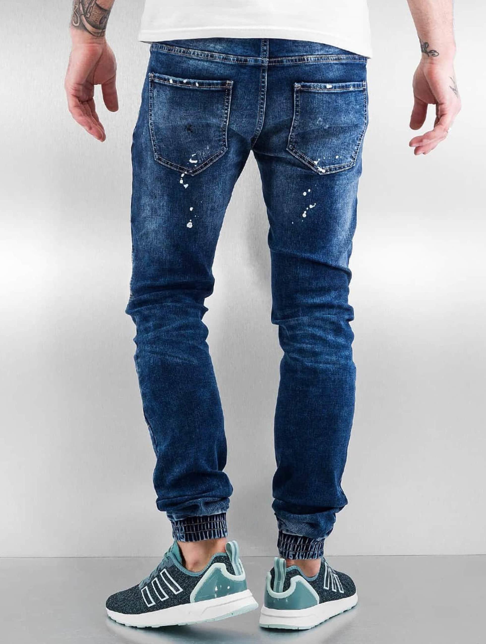 Sixth June Jeans slim fit Destroyed Biker blu