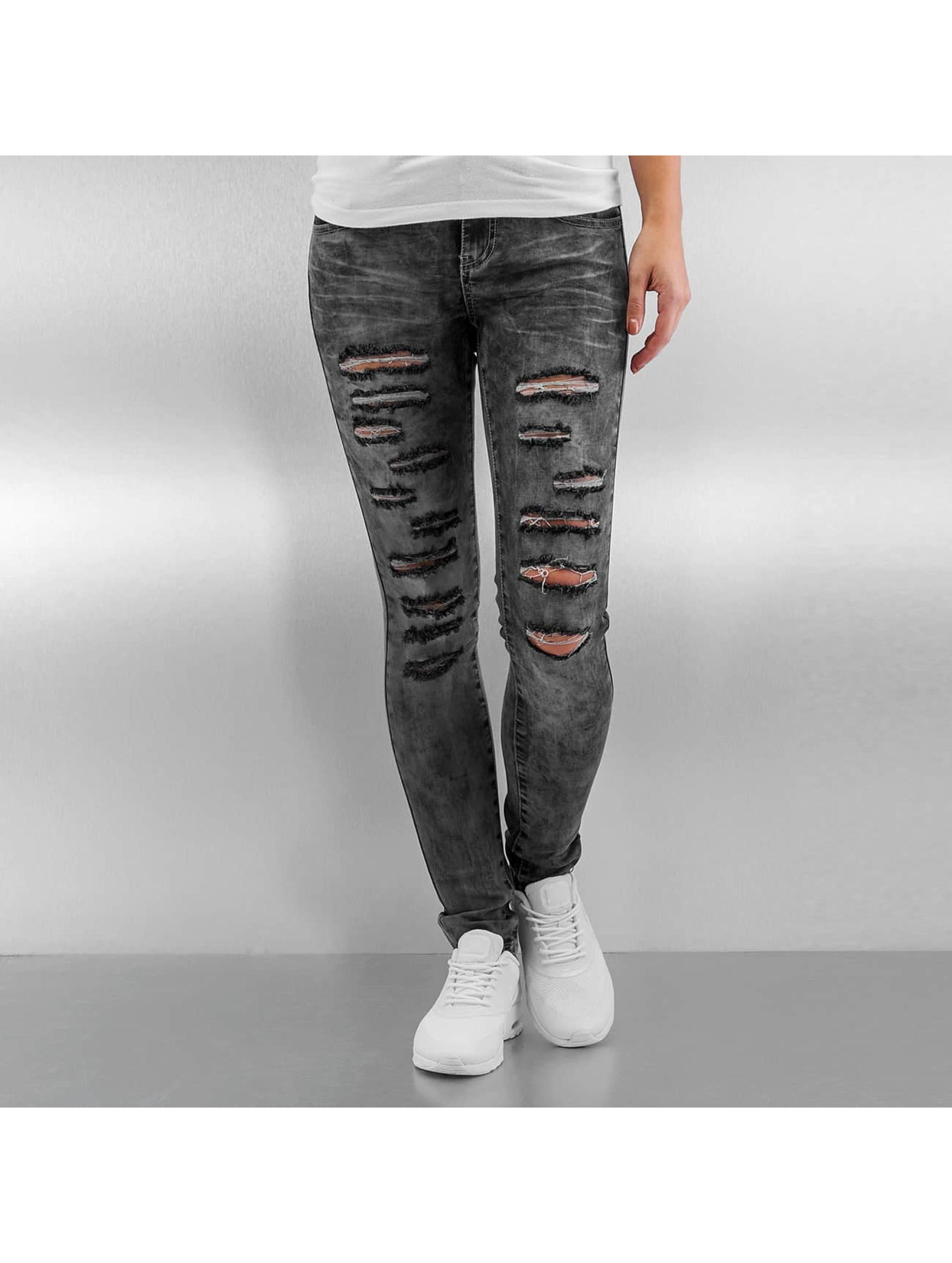 Sixth June Jeans slim fit Destroyed grigio