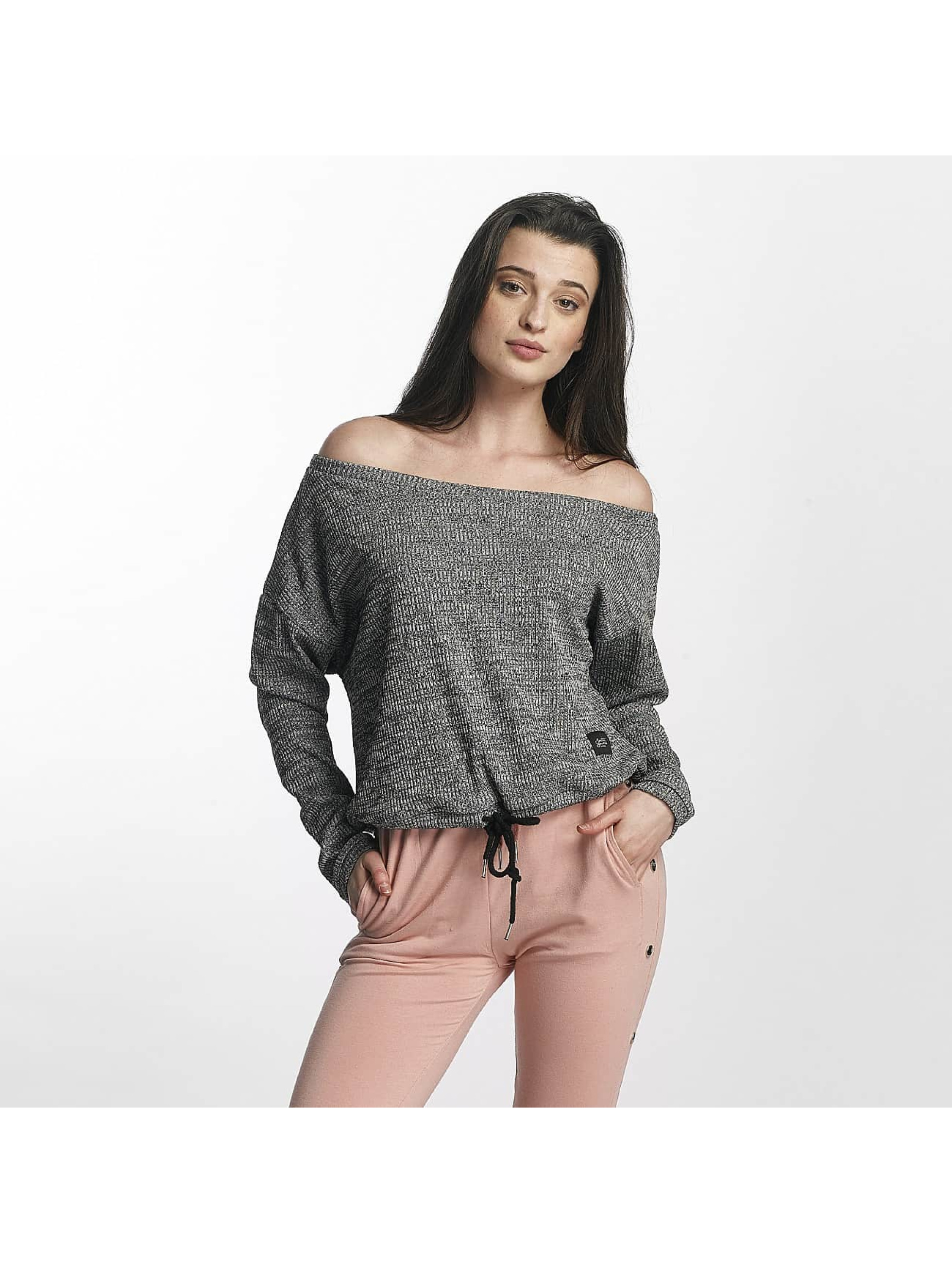 Sixth June Jersey Oversize Cold Shoulder gris