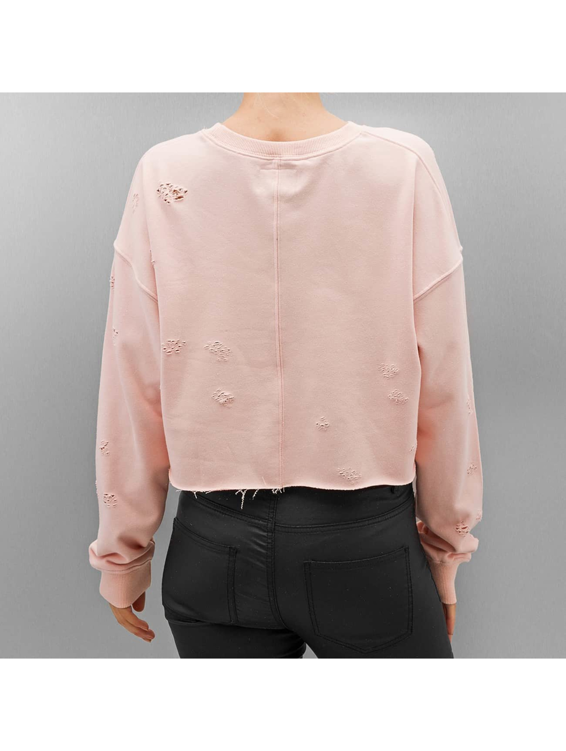 Sixth June Jersey Destroyed Cropped rosa