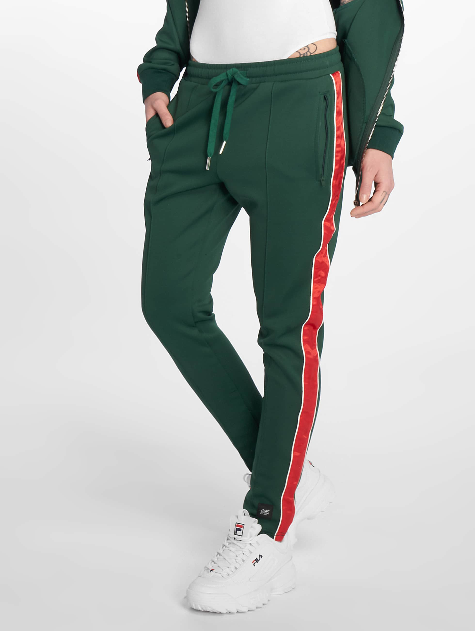 Joggingbroek Groen.Sixth June Broek Joggingbroek Satin Band In Groen 603126